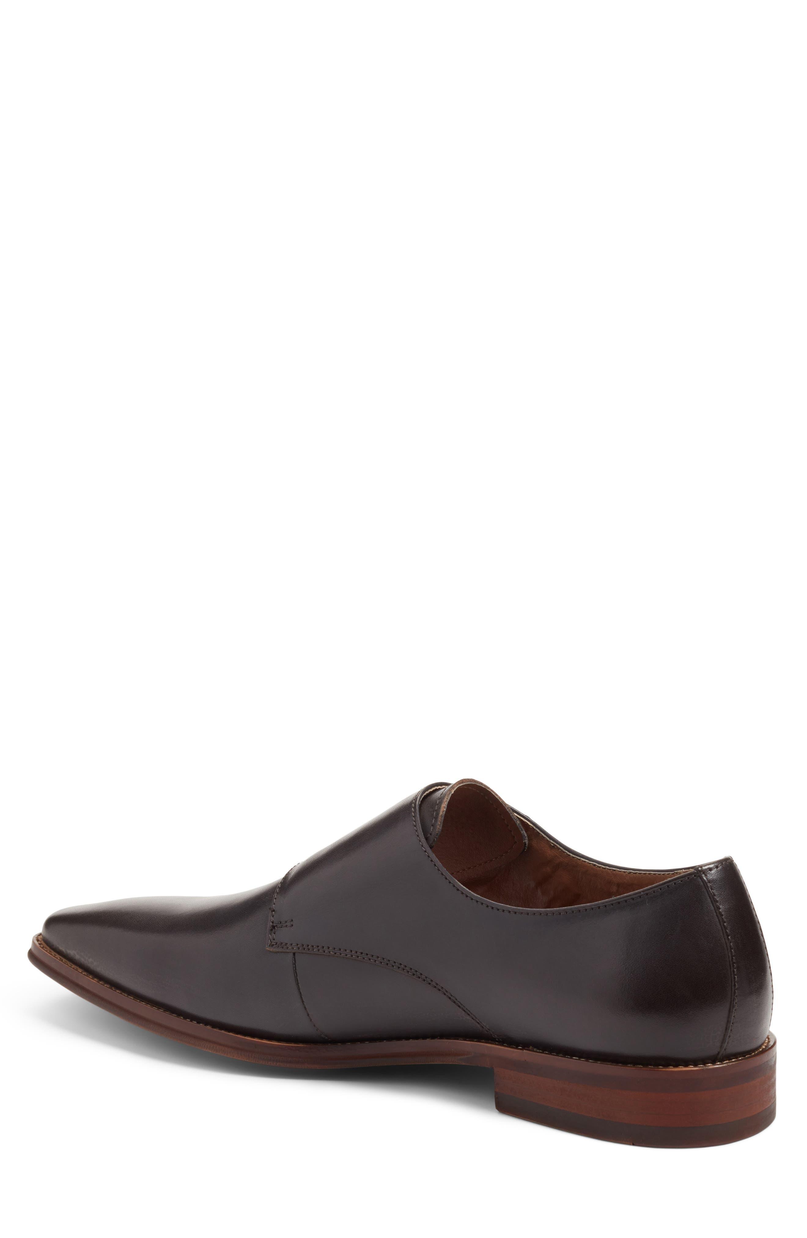 Sedona Double Strap Monk Shoe,                             Alternate thumbnail 2, color,                             Grey Leather