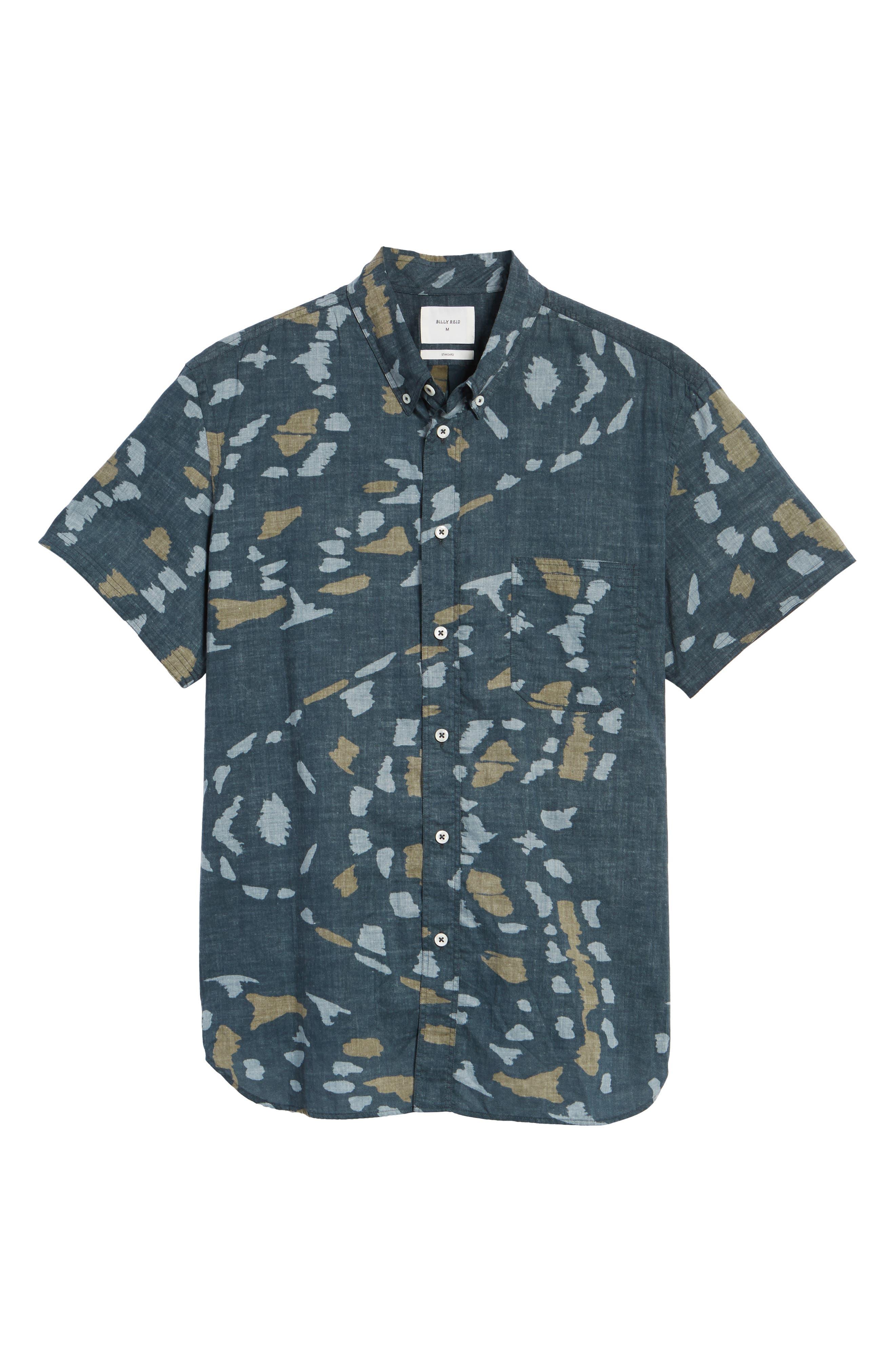Tuscumbia Slim Fit Sport Shirt,                             Alternate thumbnail 6, color,                             Navy