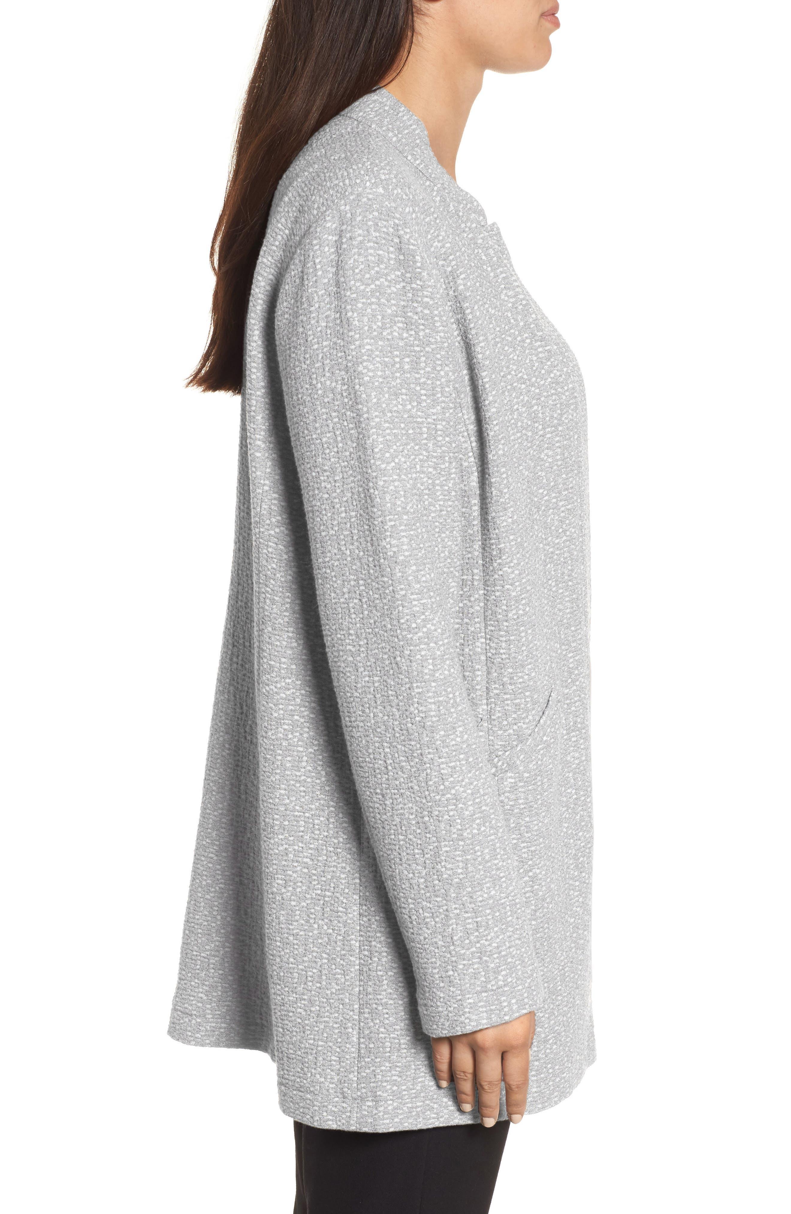 Tweed Jacket,                             Alternate thumbnail 4, color,                             Dark Pearl