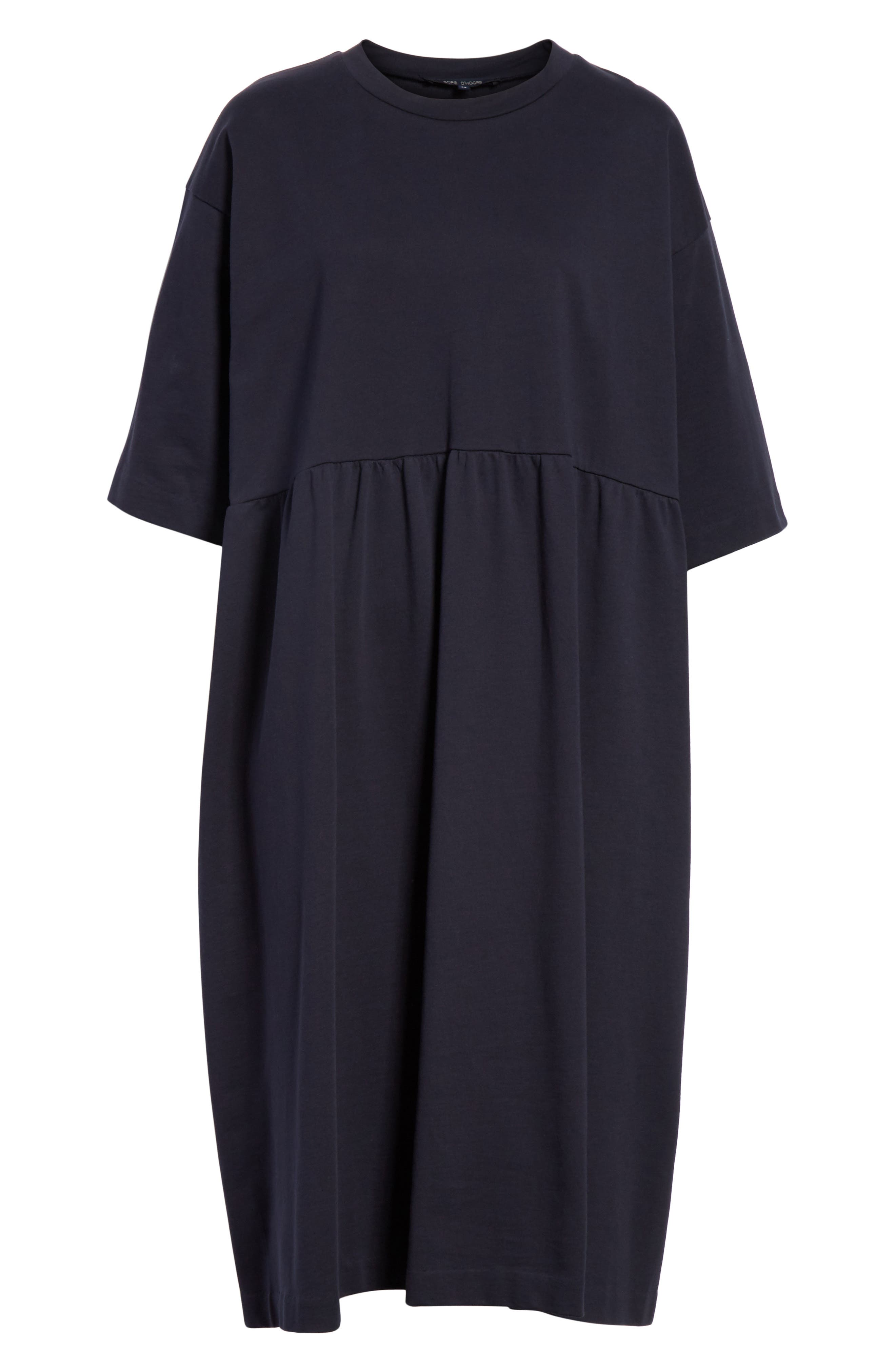 T-Shirt Dress,                             Alternate thumbnail 6, color,                             Navy