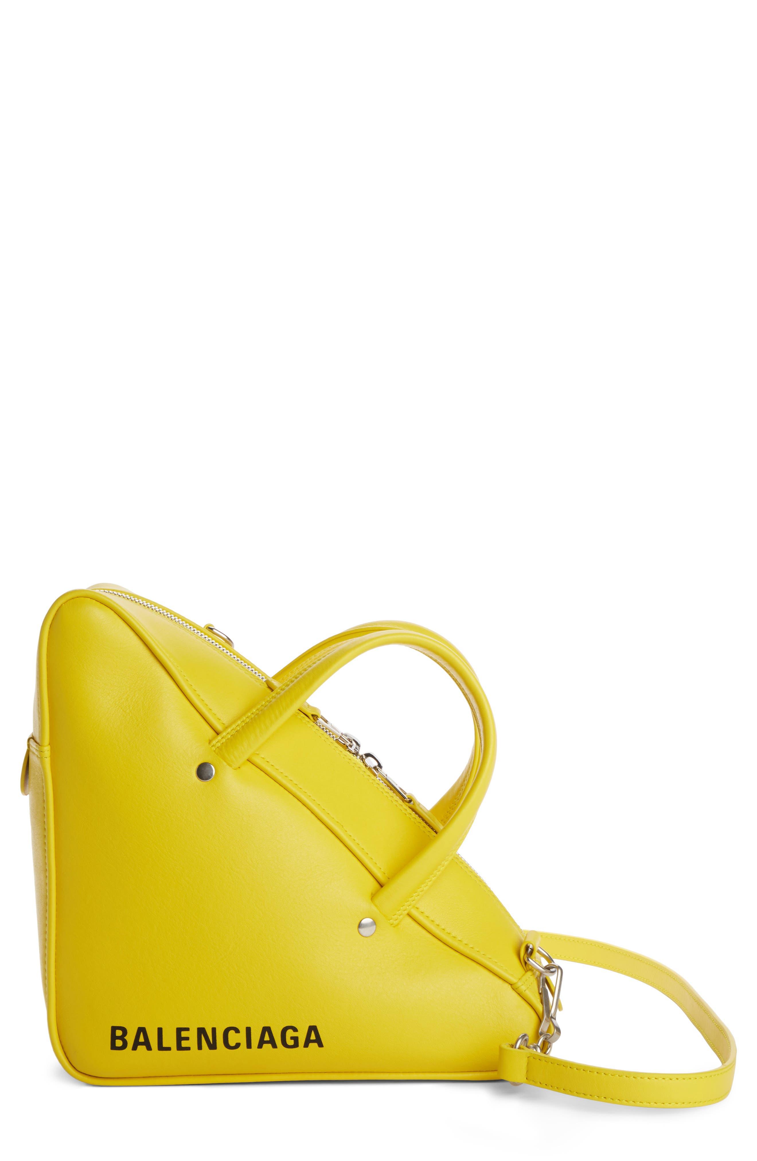 Small Triangle Duffel Bag,                             Main thumbnail 1, color,                             Jaune