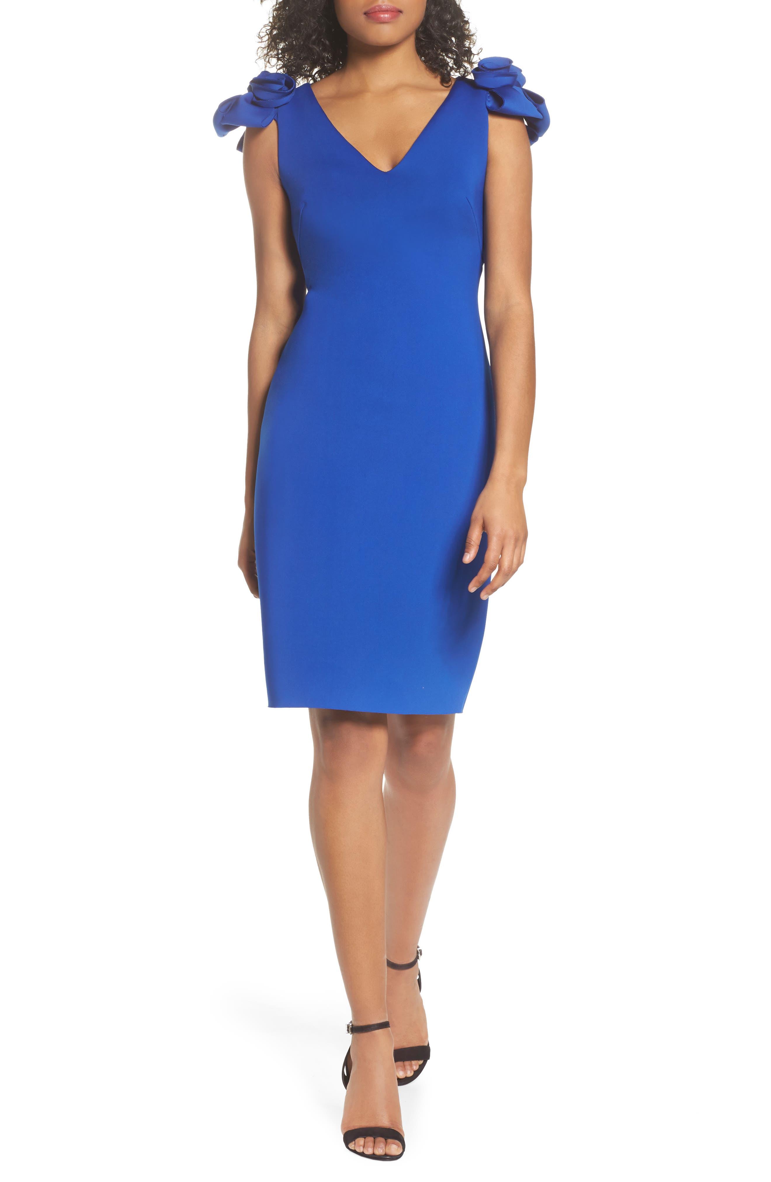 Blue Knee Length Dresses