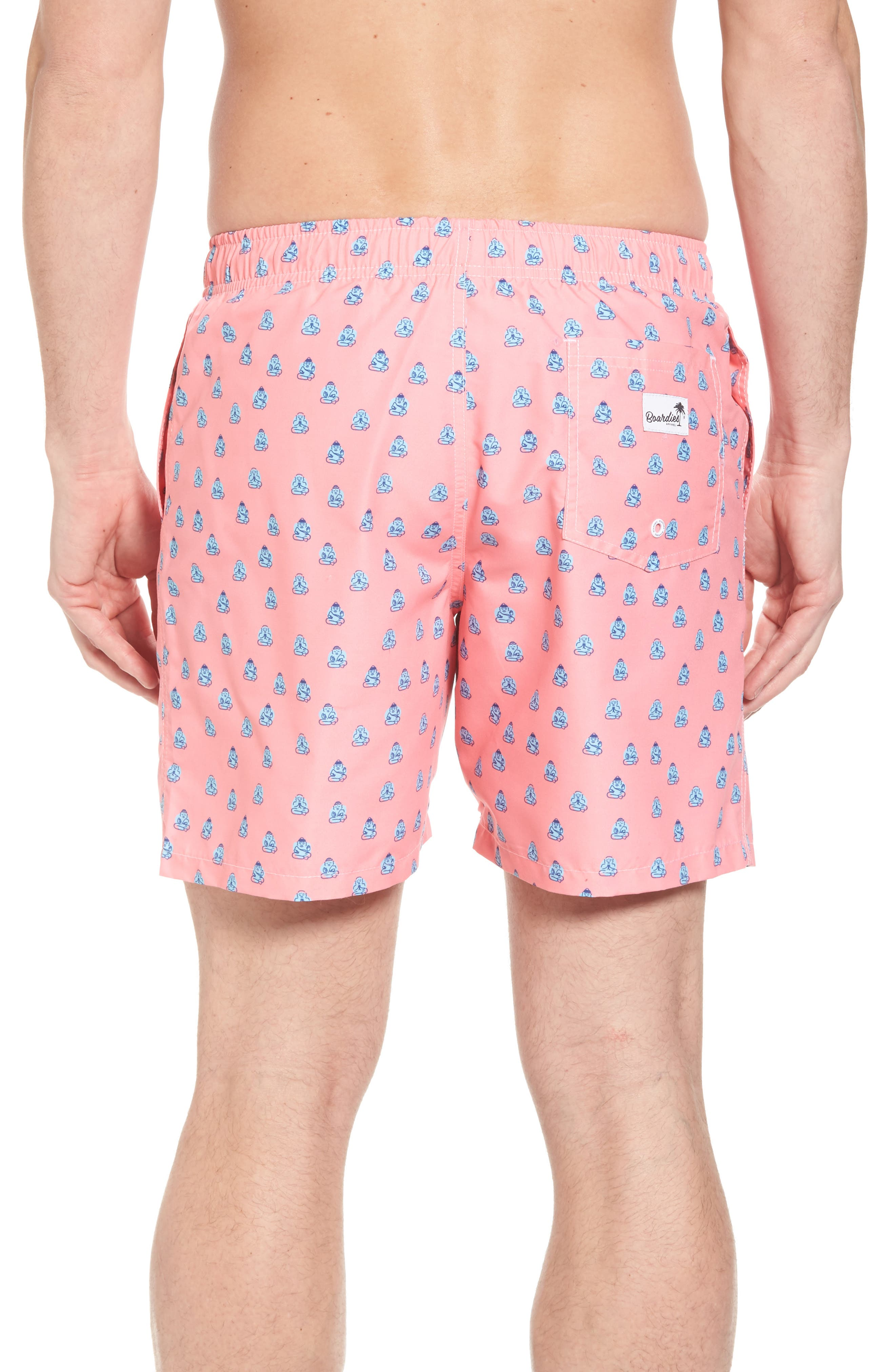 Polka Zen Swim Shorts,                             Alternate thumbnail 2, color,                             Pink