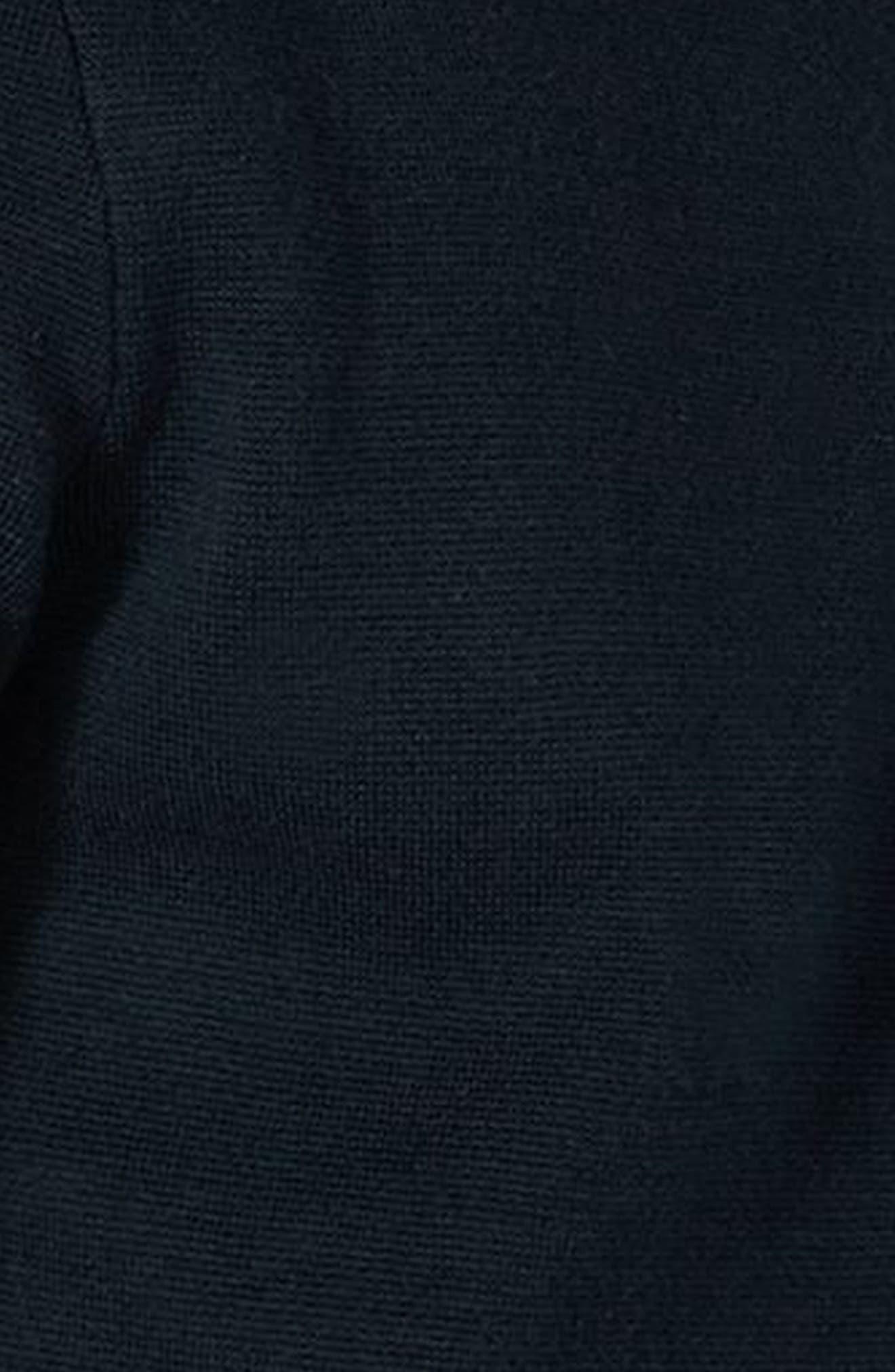 Stripe Knit Zip Front Harrington Sweatshirt,                             Alternate thumbnail 3, color,                             Navy Blue Multi