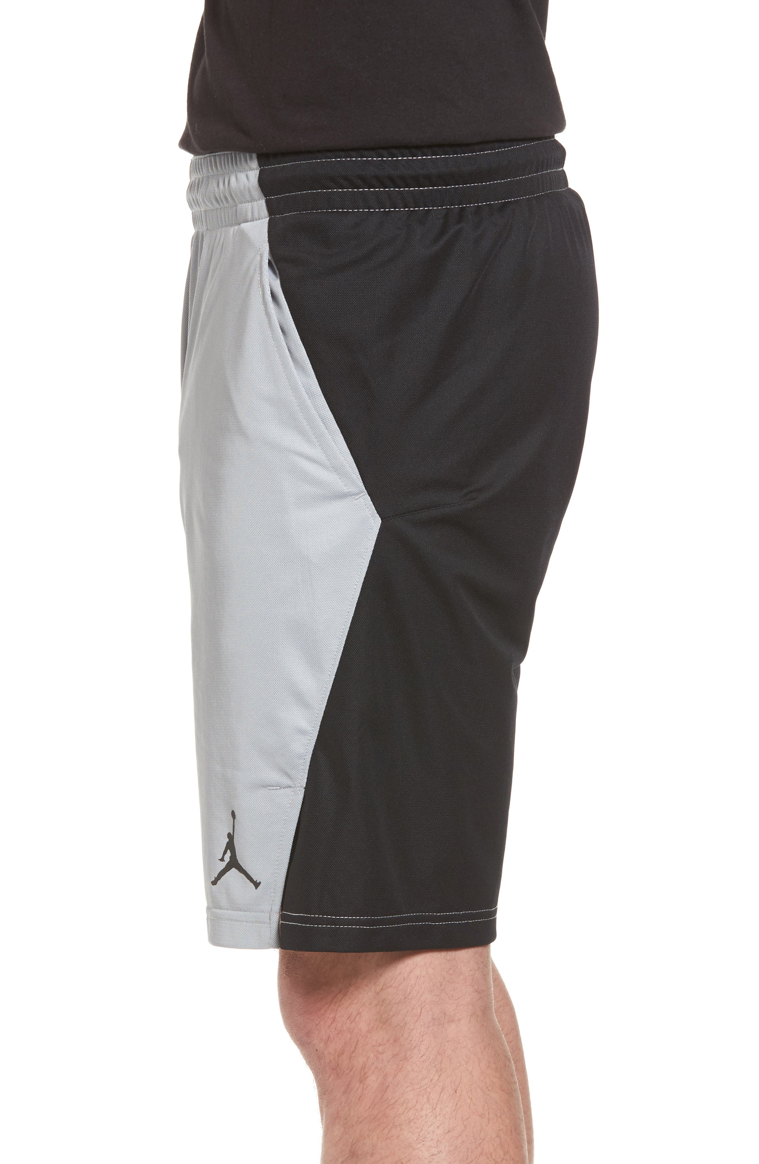 Flight Basketball Shorts,                             Alternate thumbnail 3, color,                             Wolf Grey/ Black/ Black