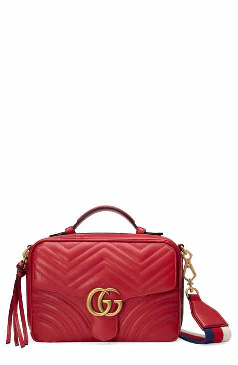 3d22c630542 Gucci Small GG Marmont 2.0 Matelassé Leather Camera Bag with Webbed Strap