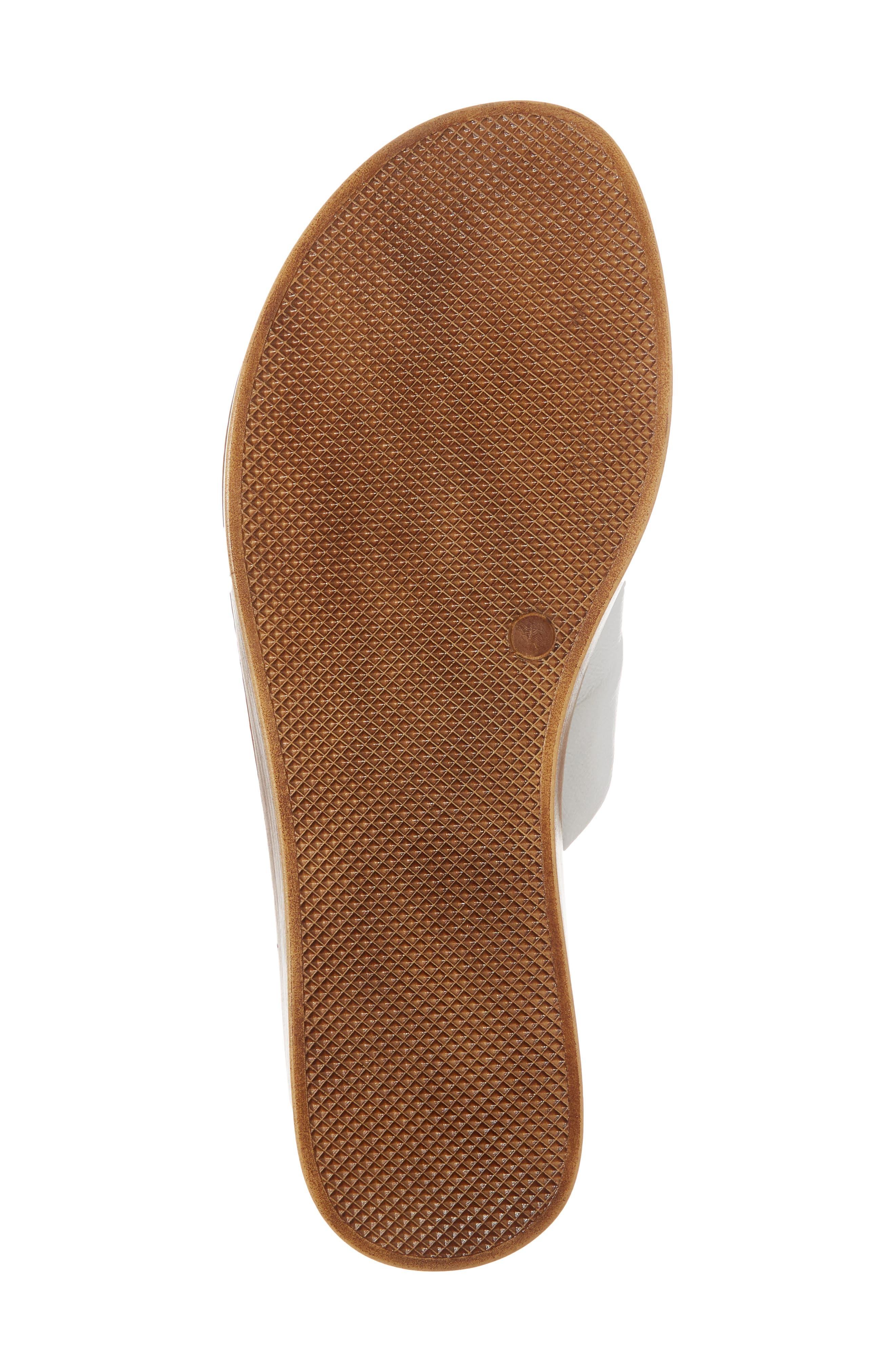 Noa Slide Sandal,                             Alternate thumbnail 6, color,                             White Leather