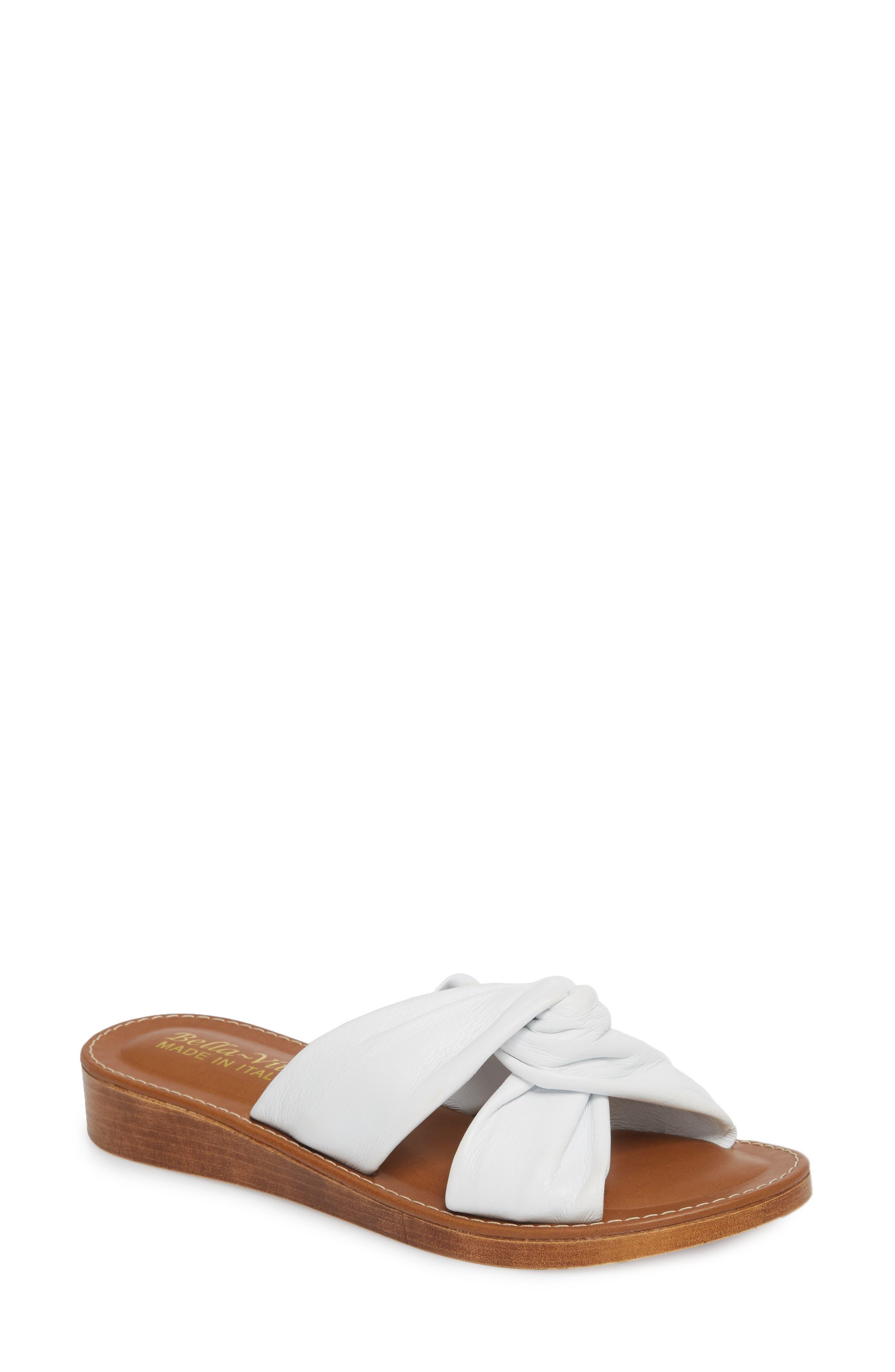 Noa Slide Sandal,                         Main,                         color, White Leather