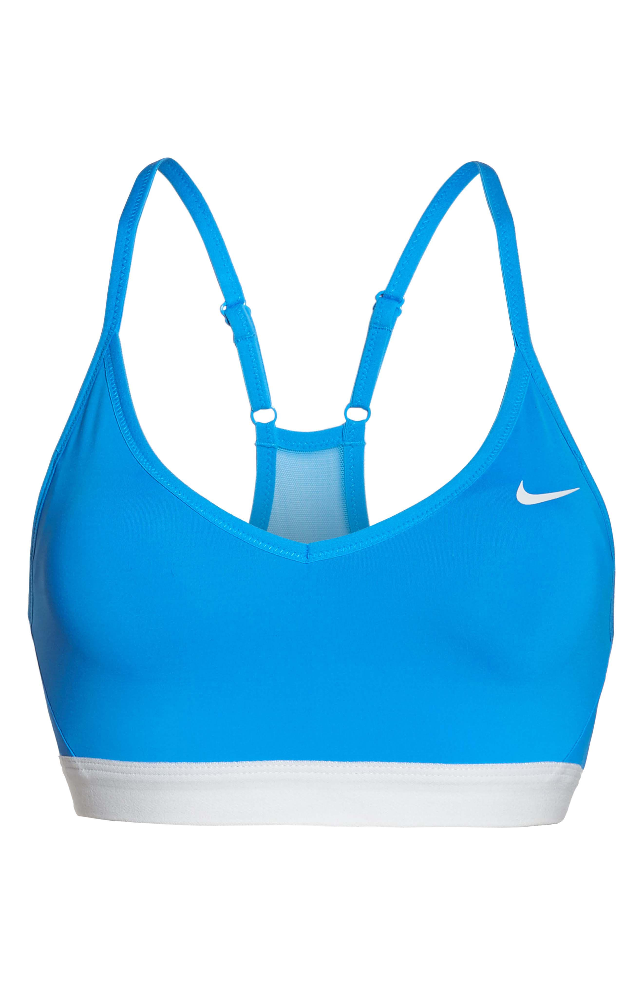 Pro Indy Dry Sports Bra,                             Alternate thumbnail 7, color,                             Lt Photo Blue/ Pure Platinum