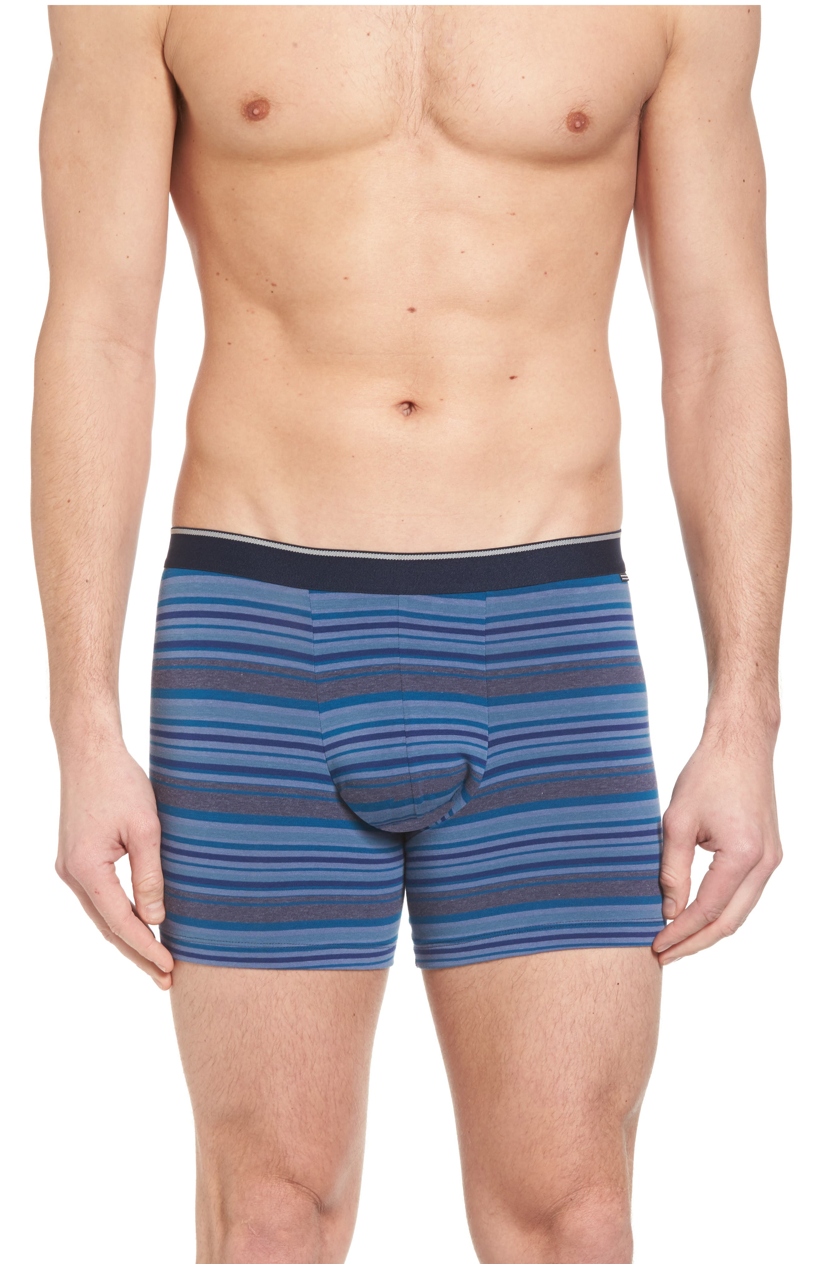 Pouch Briefs,                             Main thumbnail 1, color,                             Blue Tonal Multi Stripe