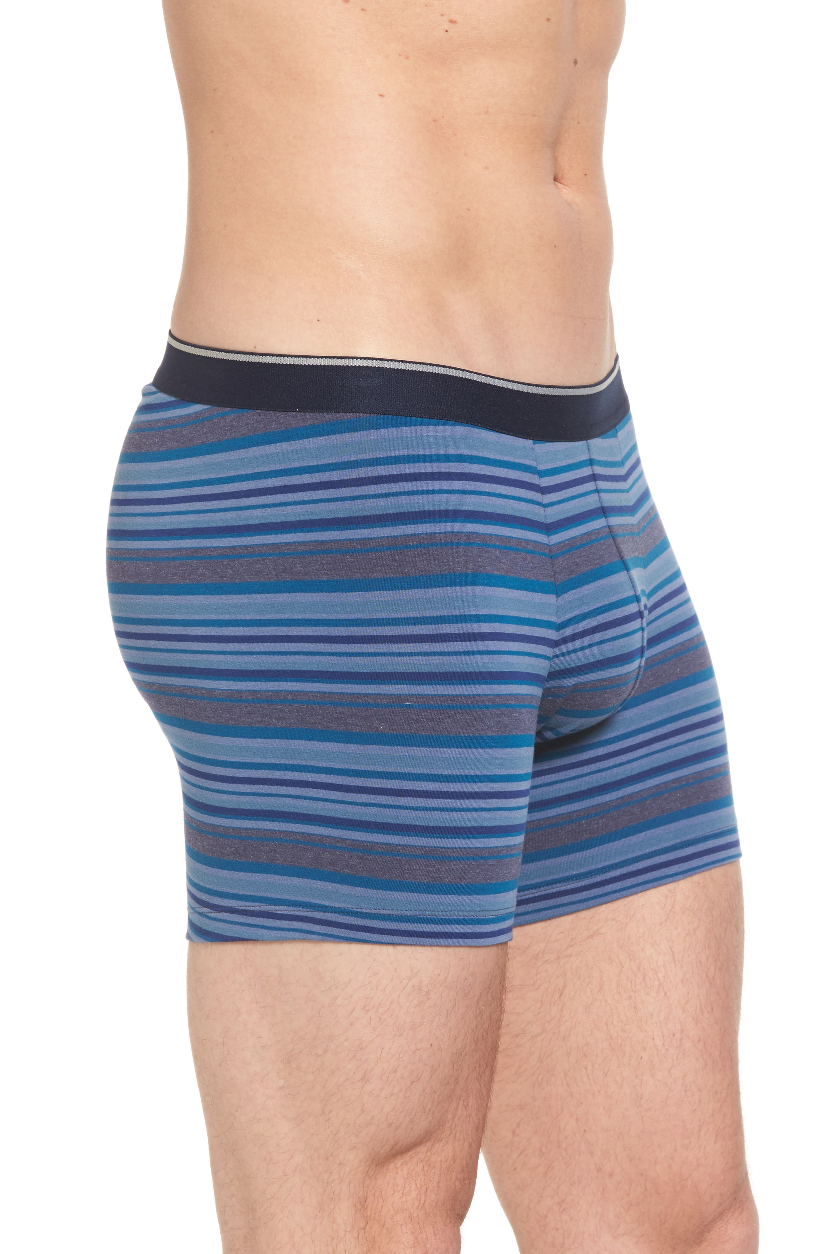 Pouch Briefs,                             Alternate thumbnail 3, color,                             Blue Tonal Multi Stripe