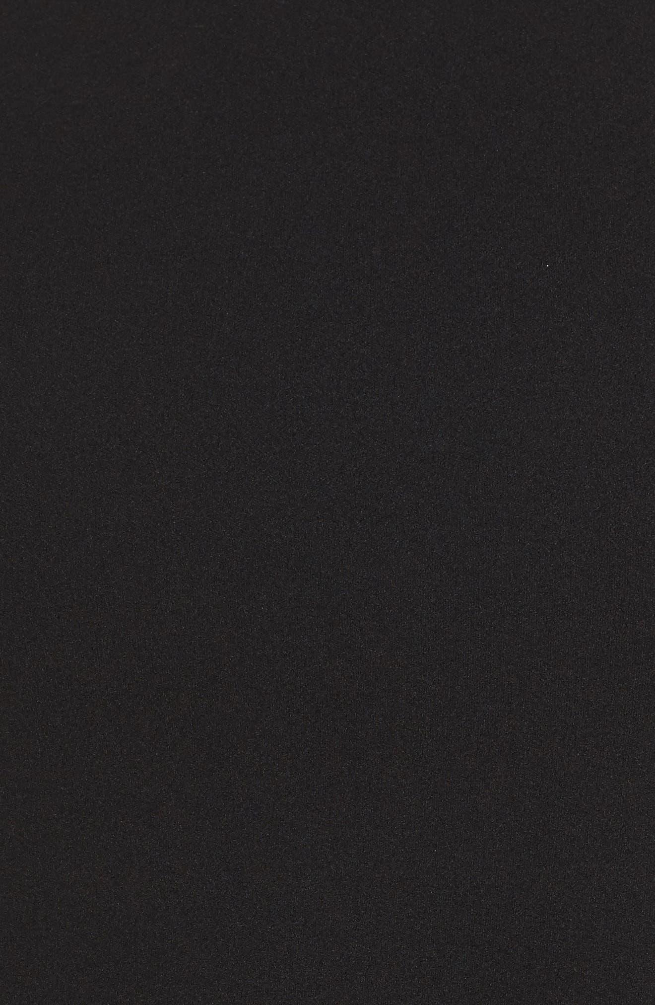 Chiffon Hem Tie Back Top,                             Alternate thumbnail 5, color,                             Black