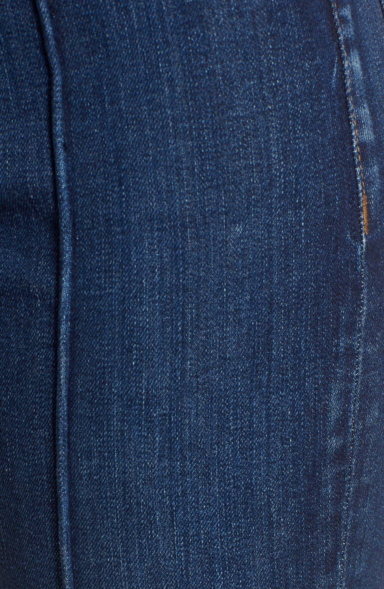 Alternate Image 5  - Hudson Jeans Barbara Pintuck Super Skinny Jeans (Electra)