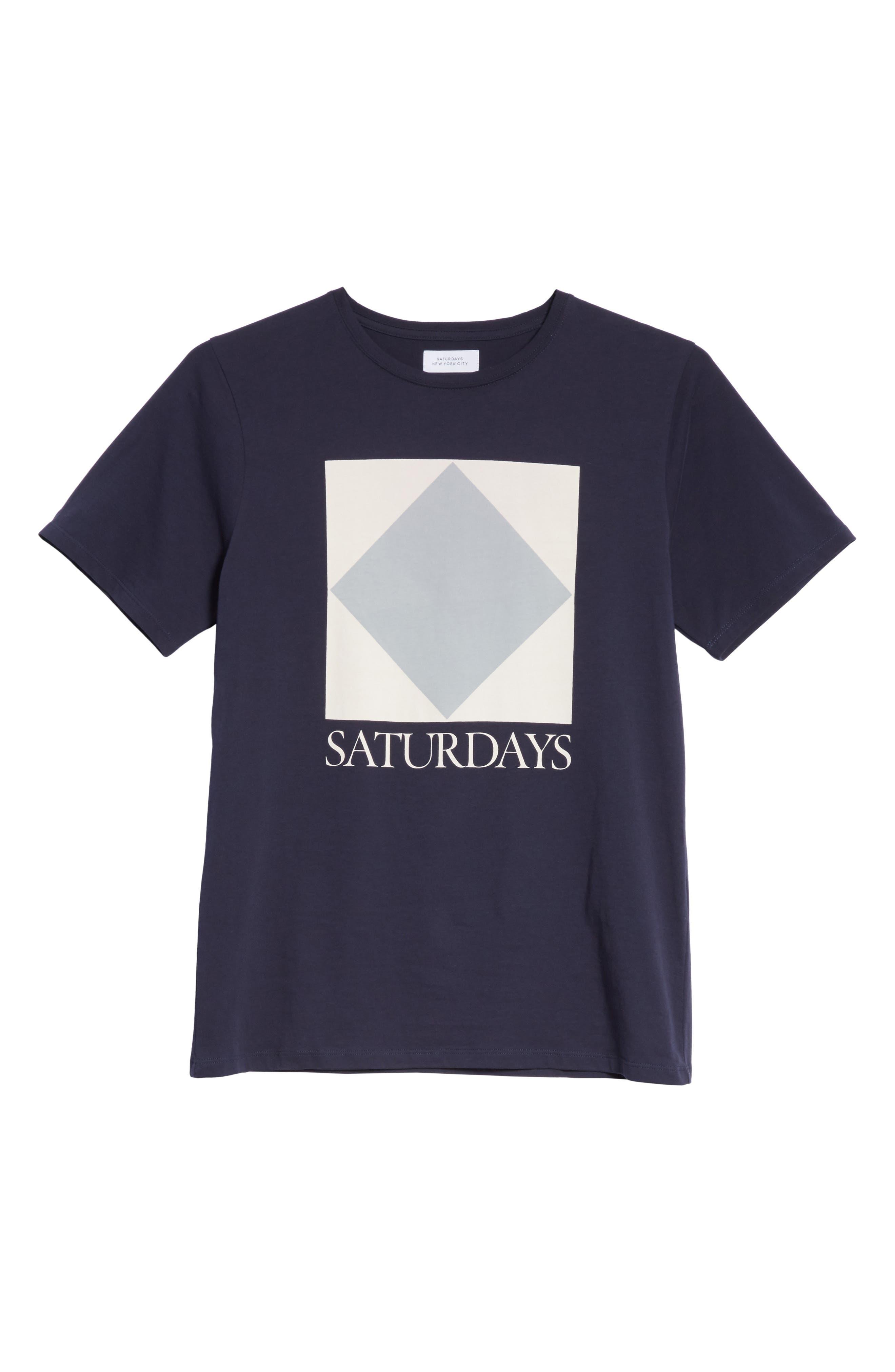 Diamond Graphic T-Shirt,                             Alternate thumbnail 6, color,                             Midnight