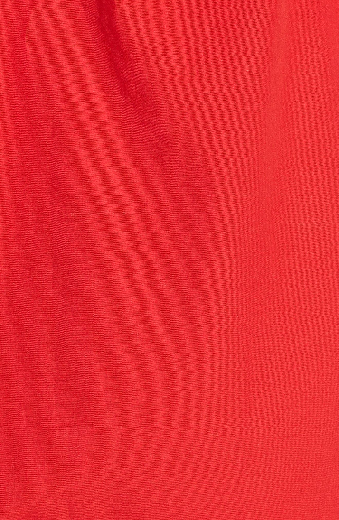 Maida Faux Wrap Ruffle Dress,                             Alternate thumbnail 5, color,                             Poppy