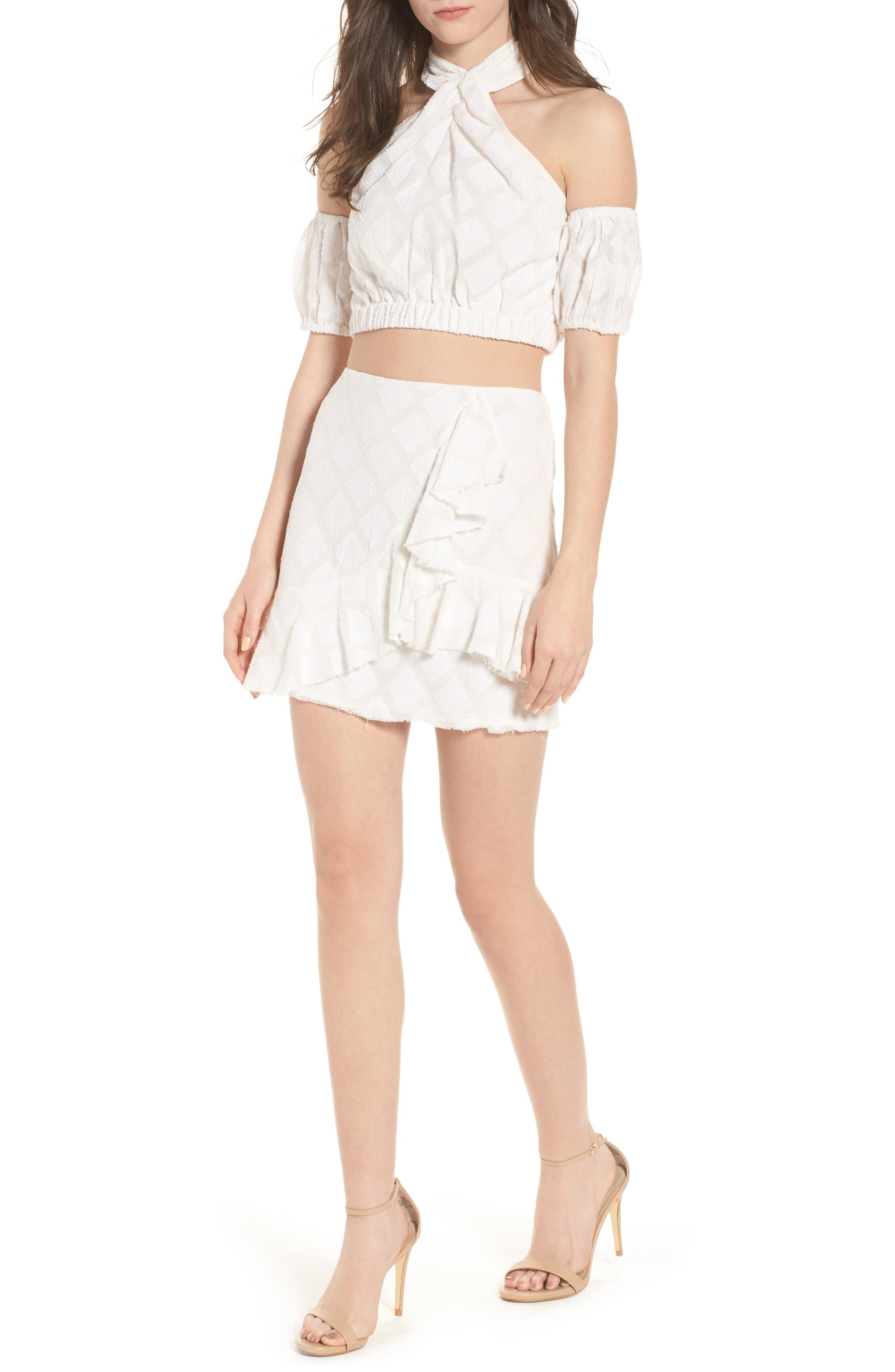Hannah Ruffle Skirt,                             Alternate thumbnail 5, color,                             Ivory