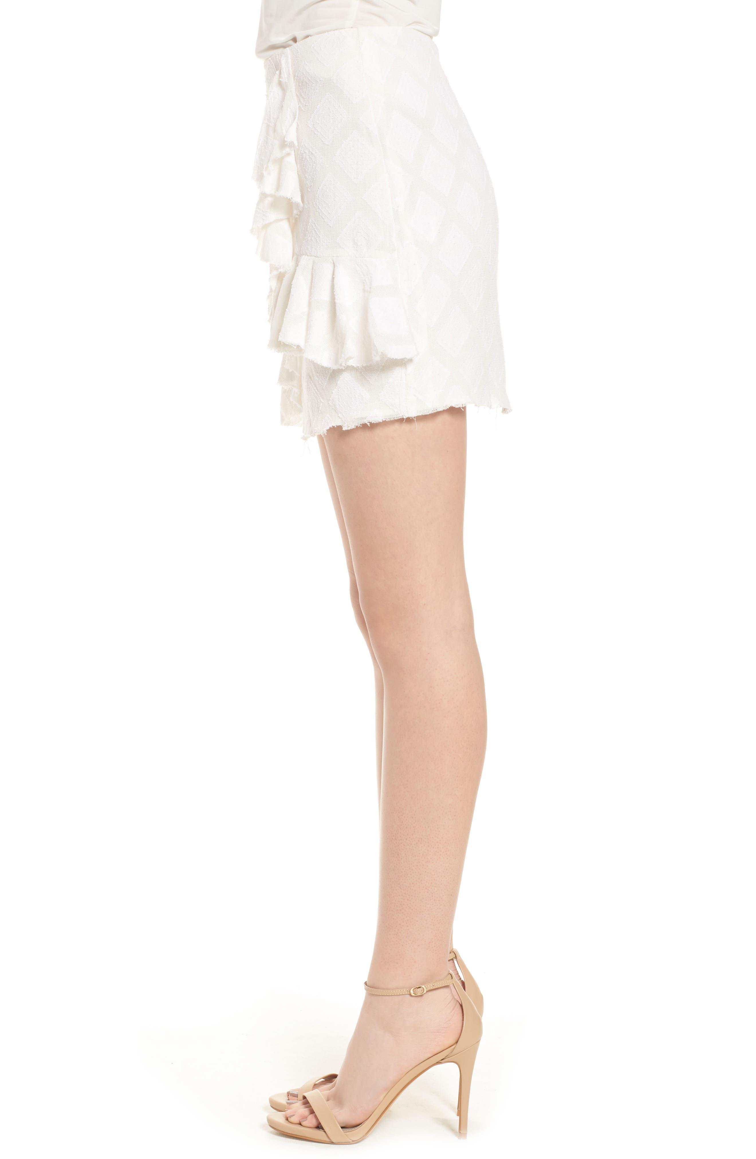 Hannah Ruffle Skirt,                             Alternate thumbnail 4, color,                             Ivory