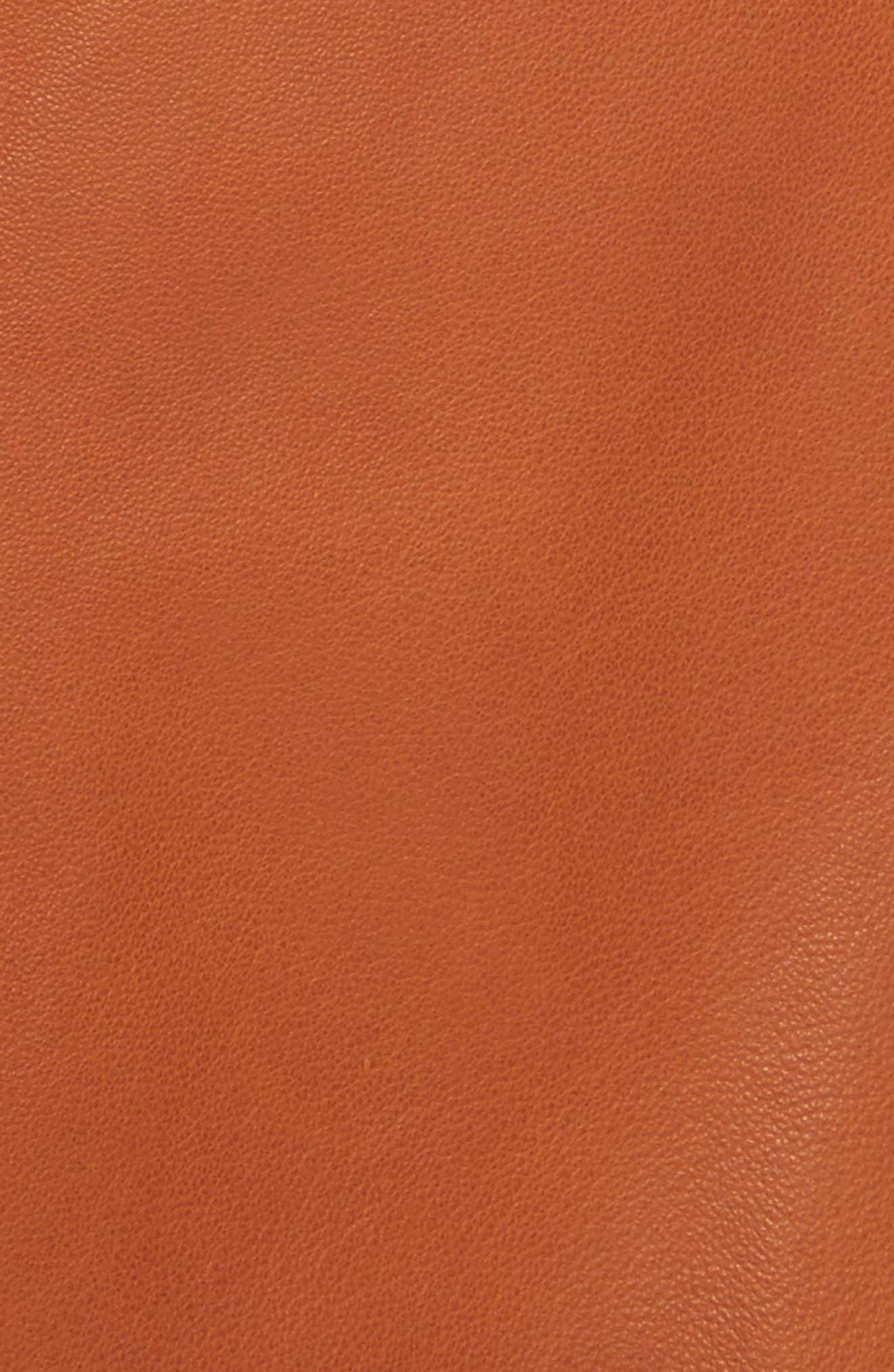 Leather Sailor Shorts,                             Alternate thumbnail 6, color,                             Ginger