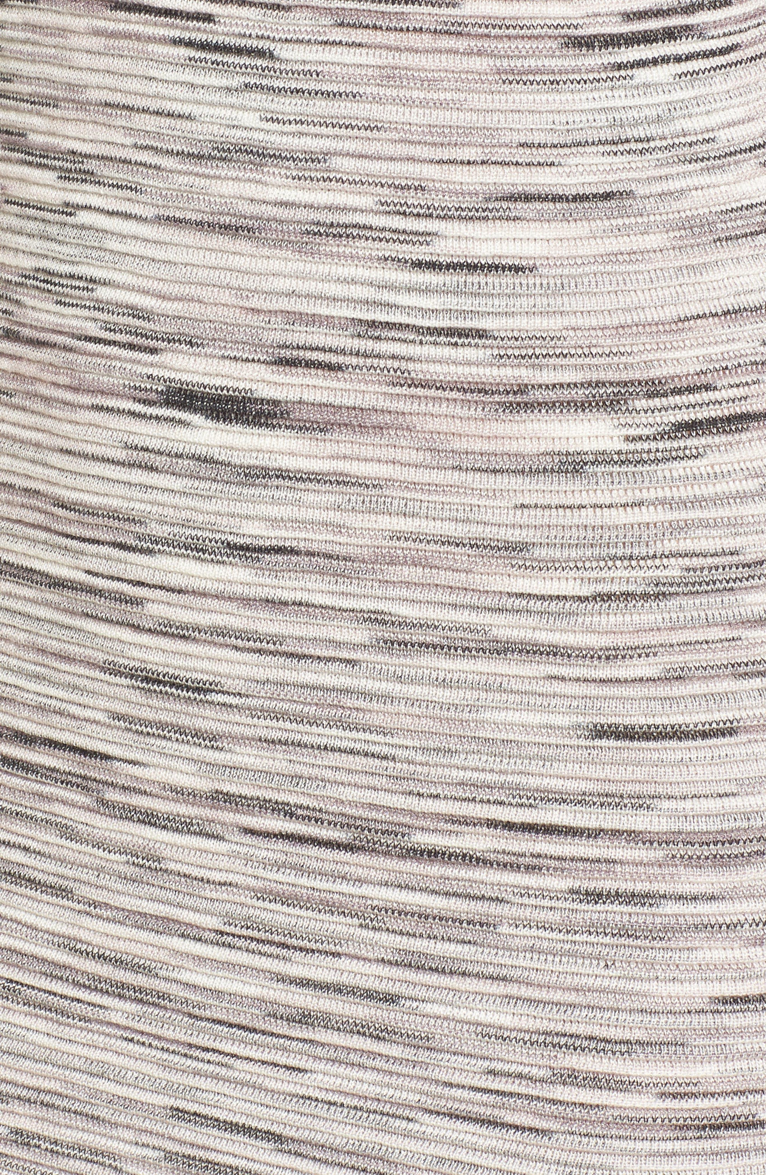Space Dye Knit Maxi Dress,                             Alternate thumbnail 6, color,                             Natural Multi