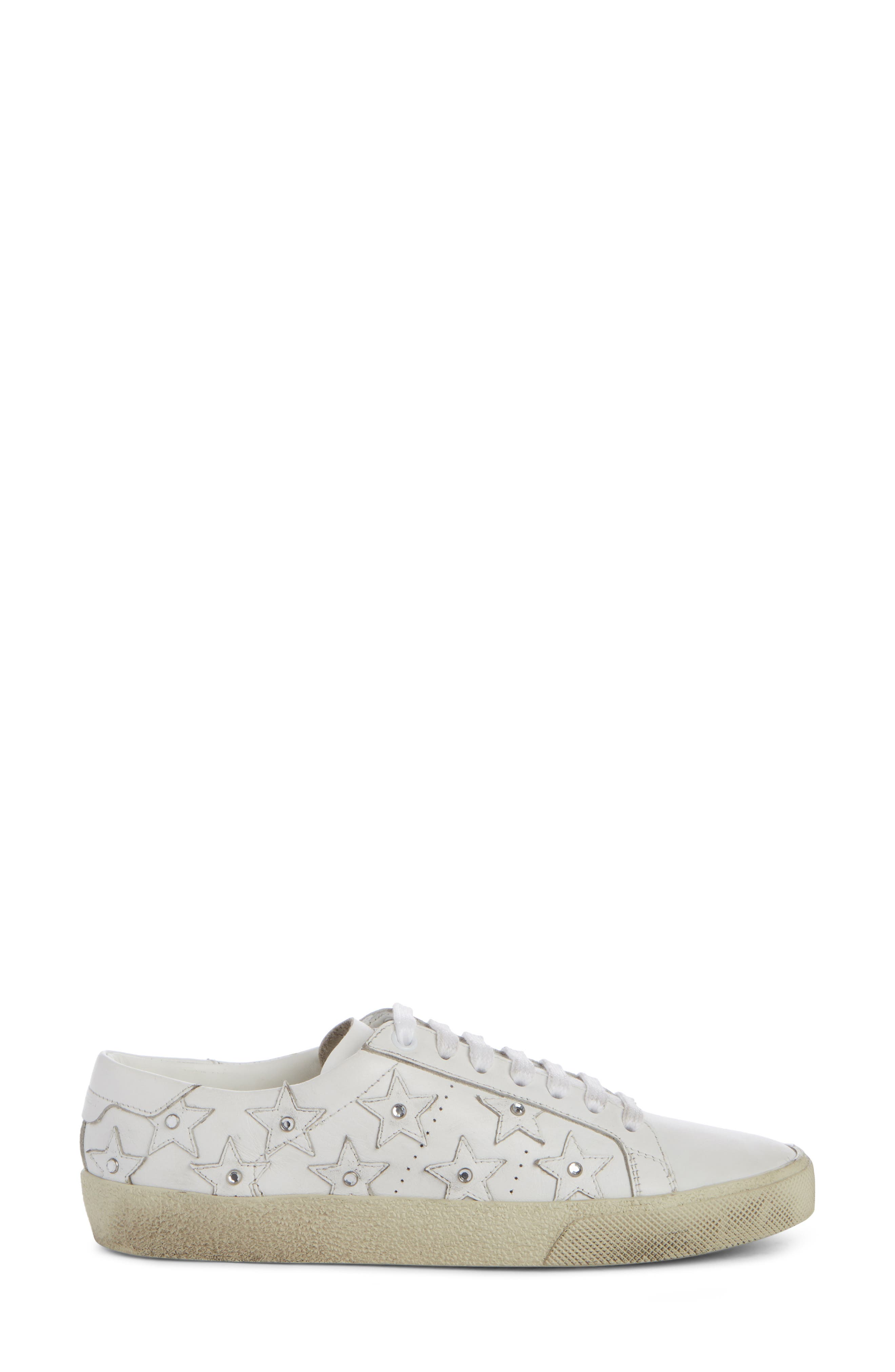 Court Classic Embellished Star Sneaker,                             Alternate thumbnail 4, color,                             White