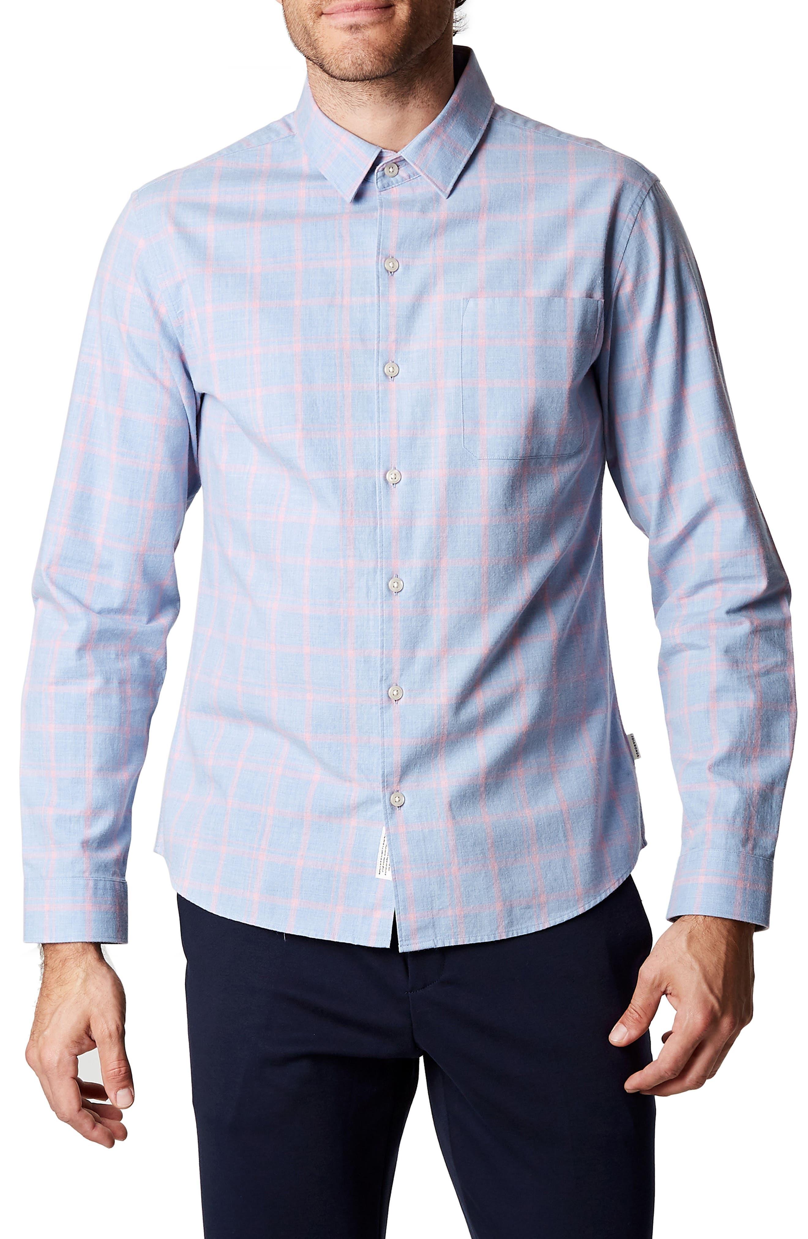 All You Know Plaid Shirt,                         Main,                         color, Light Blue
