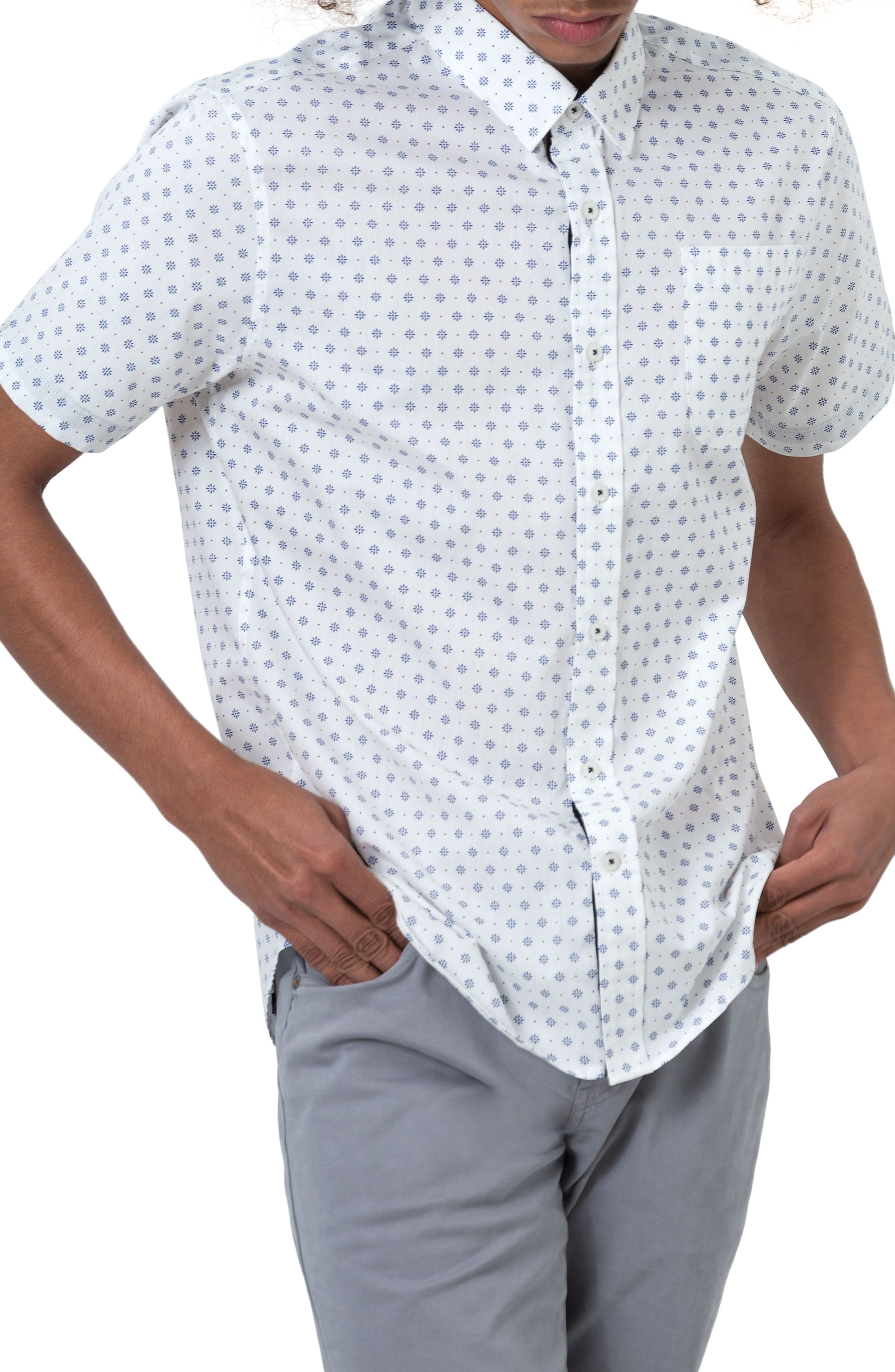 Alternate Image 1 Selected - 7 Diamonds Overflow Woven Shirt