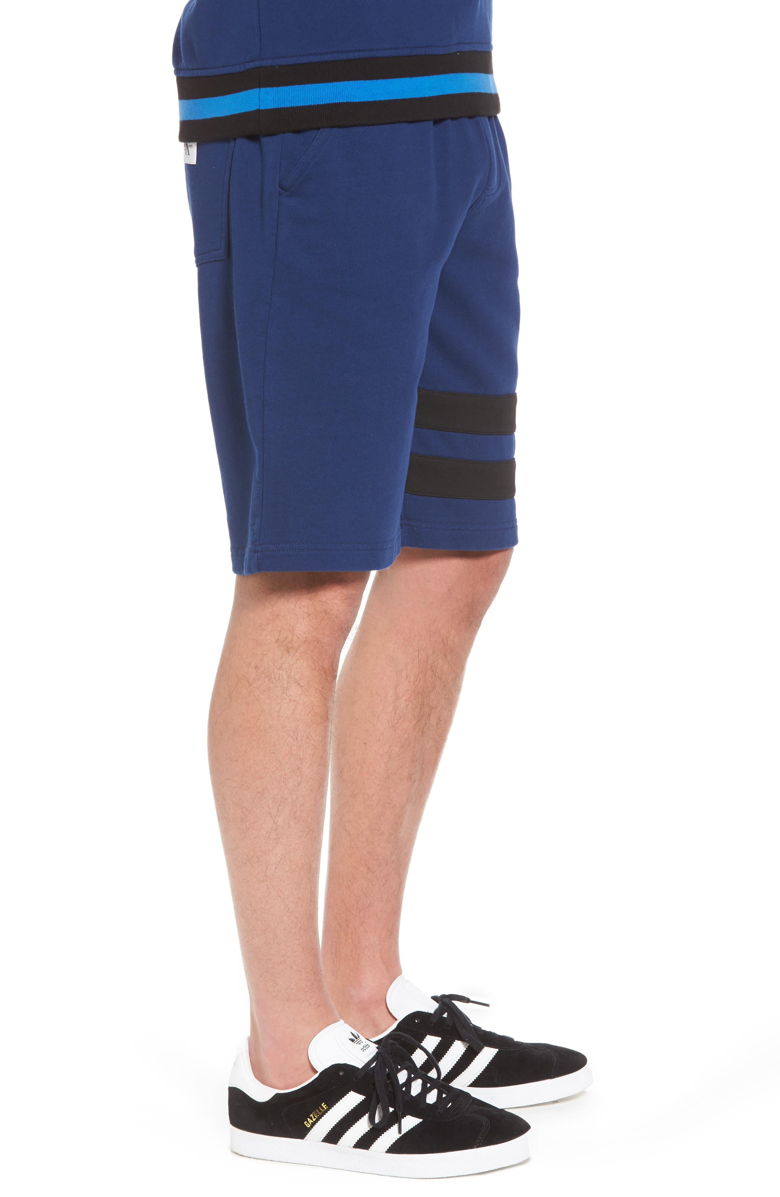 Stripe Athletic Shorts,                             Alternate thumbnail 3, color,                             Night Rider