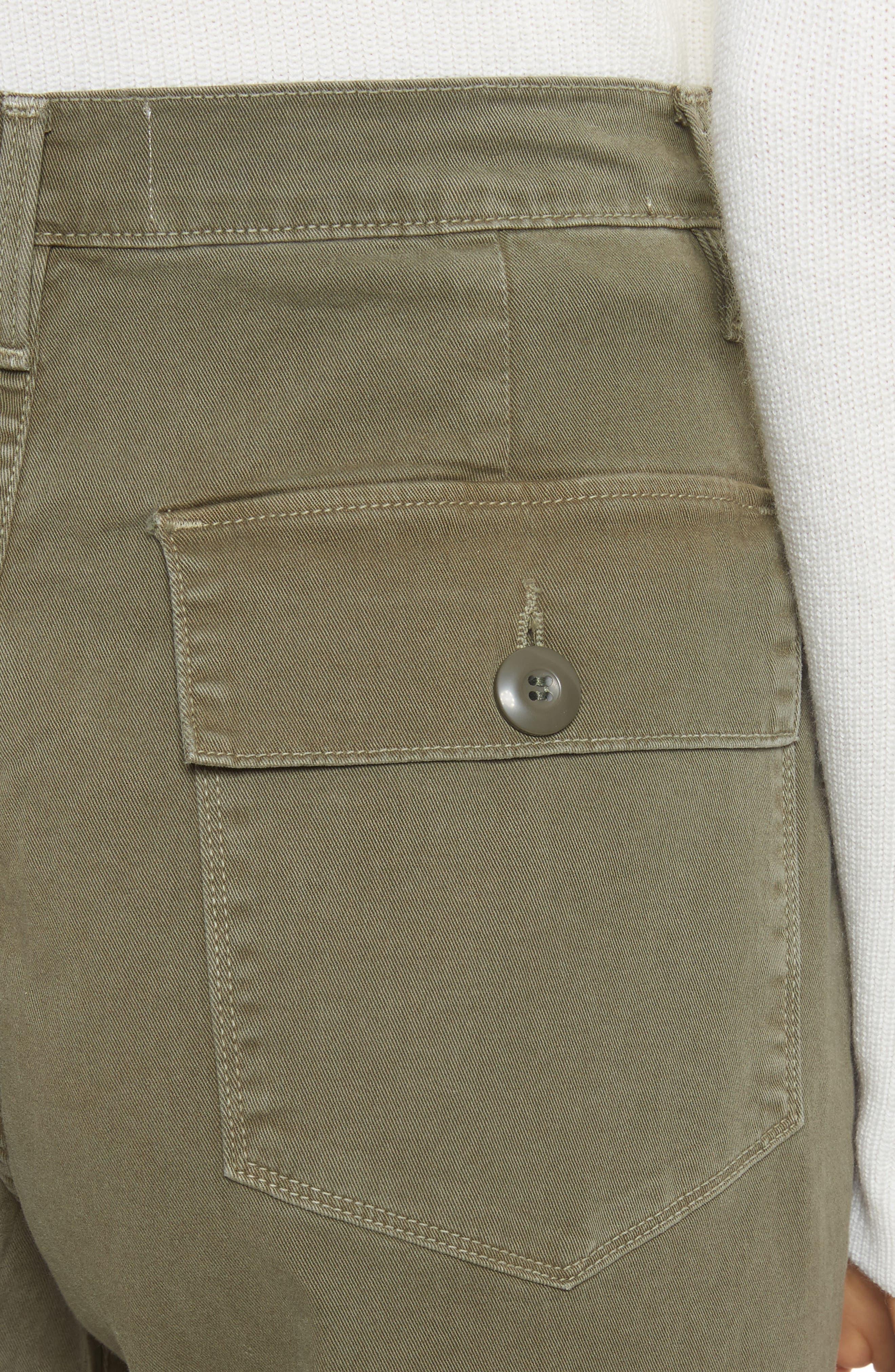 Le Service Wide Leg Pants,                             Alternate thumbnail 5, color,                             Militia Green
