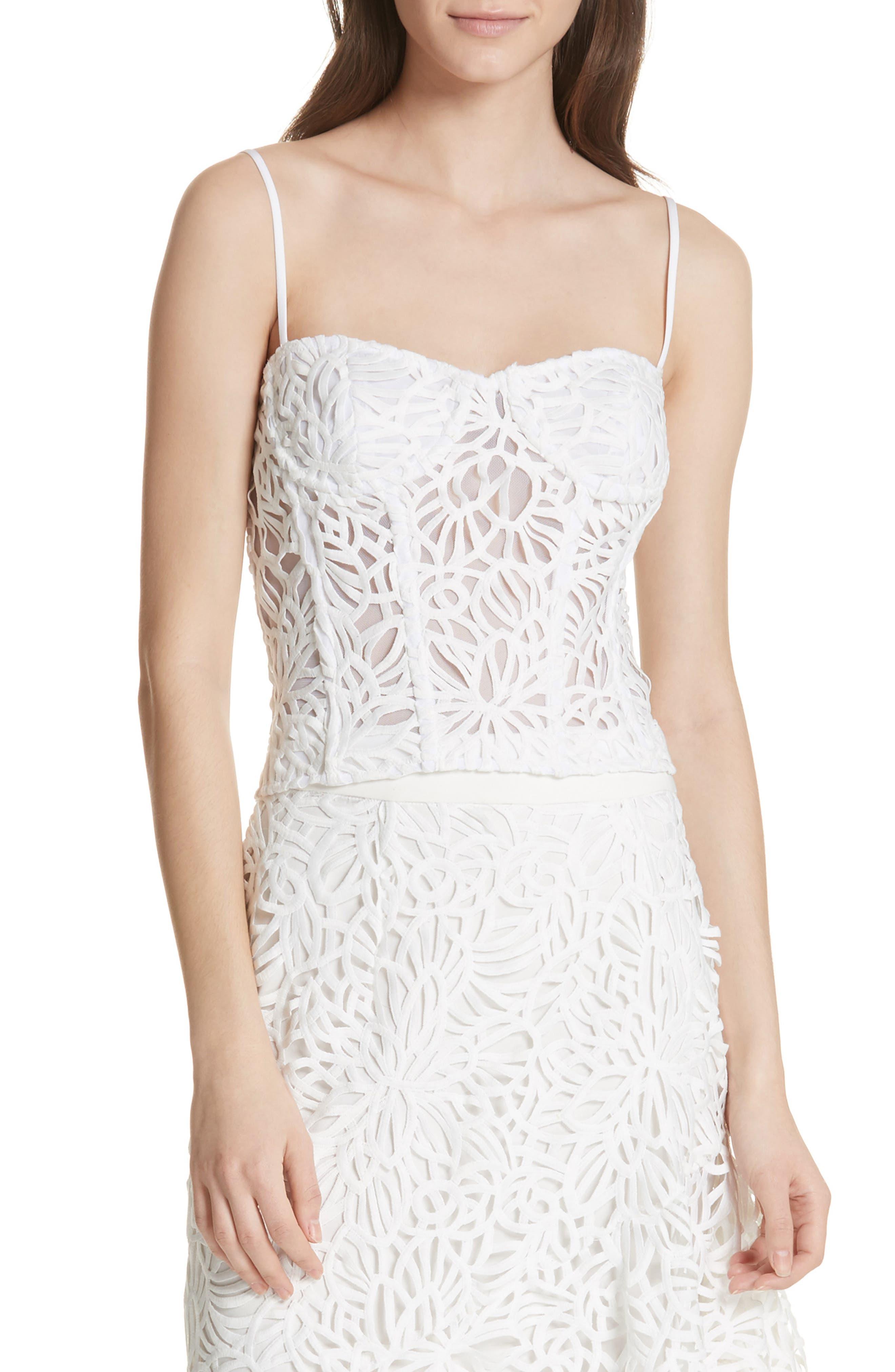 Karissa Lace Bustier,                         Main,                         color, White