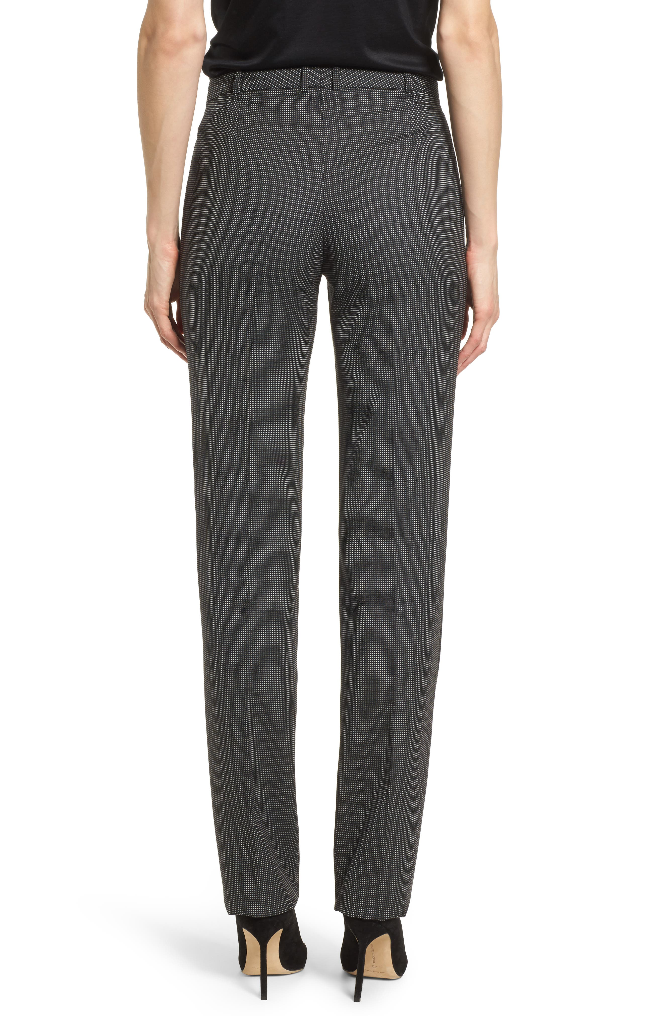 Tamea Straight Leg Stretch Wool Suit Pants,                             Alternate thumbnail 2, color,                             Black Fantasy