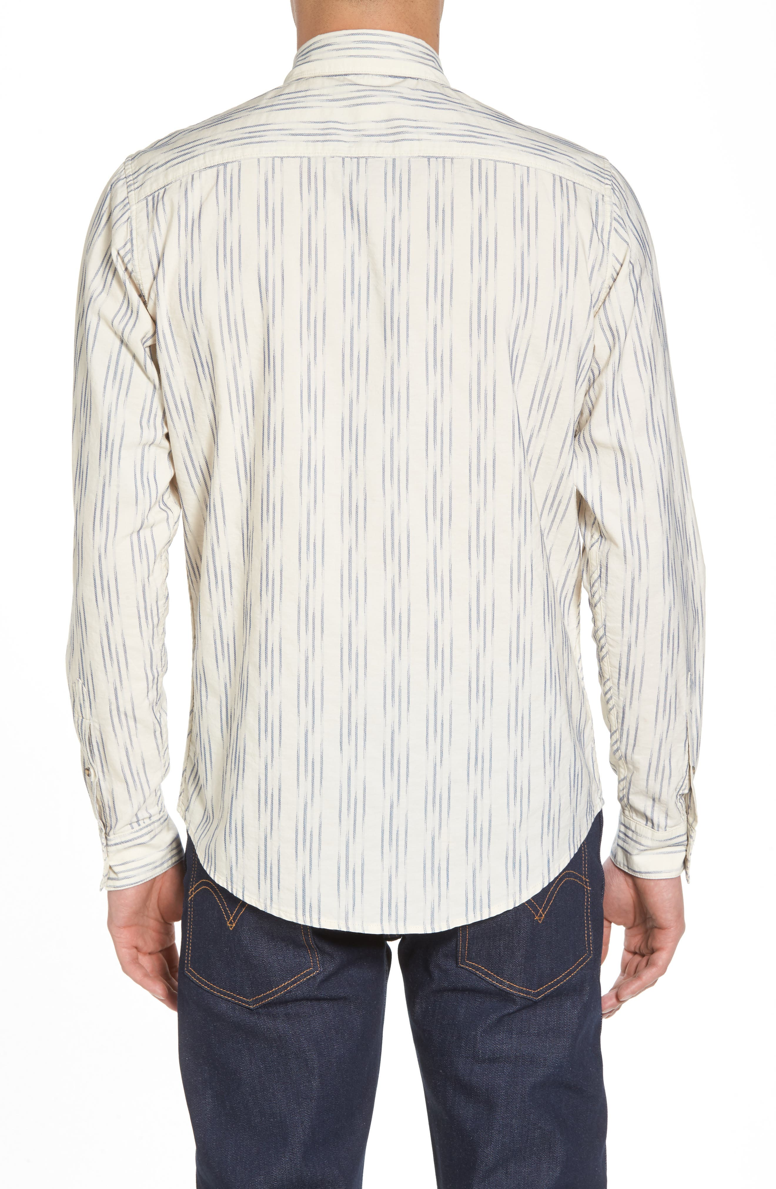 Regular Fit Sport Shirt,                             Alternate thumbnail 2, color,                             Ikat White/Blue