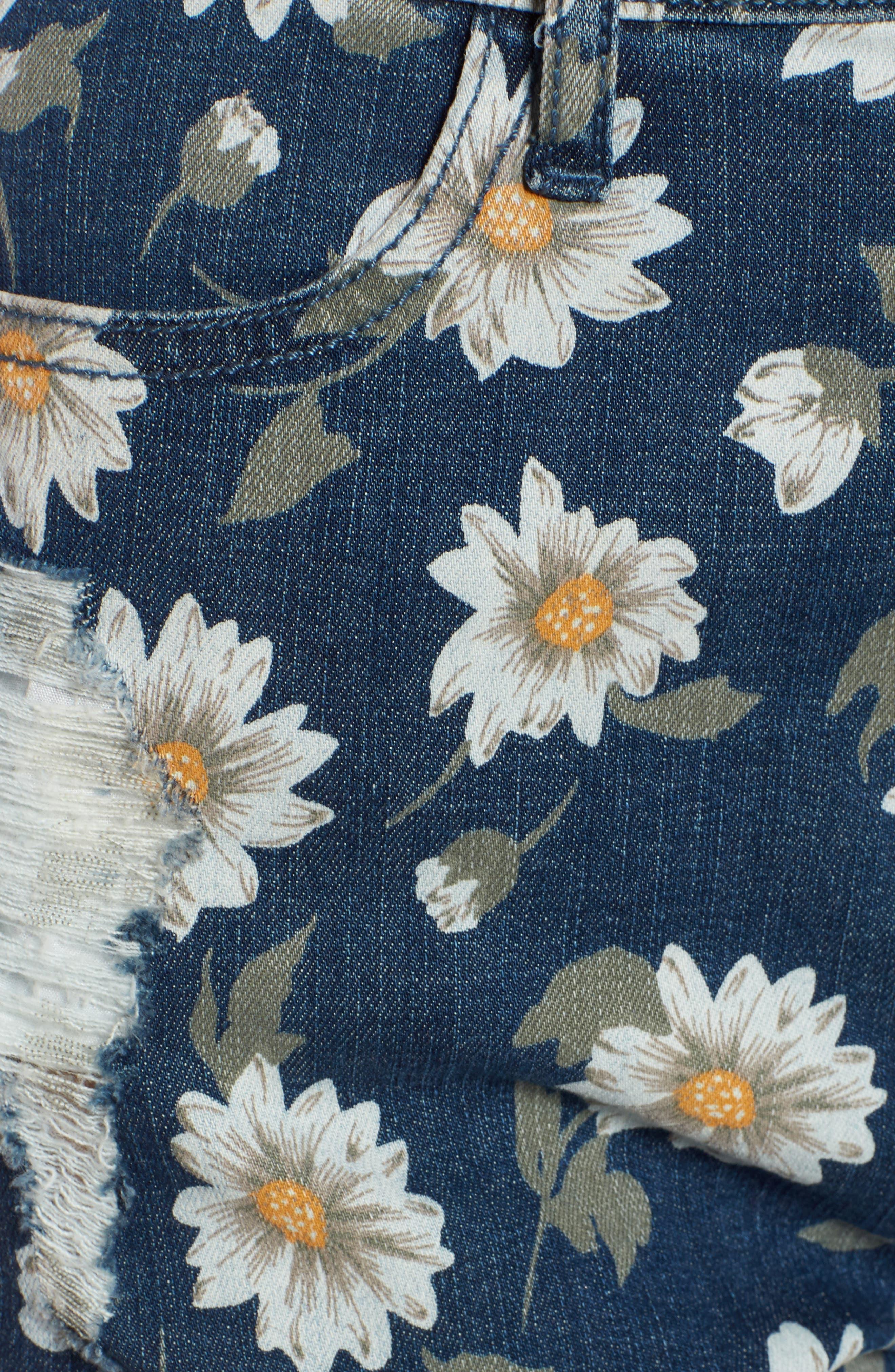 Toledo High Waist Cutoff Denim Shorts,                             Alternate thumbnail 6, color,                             Daisy Duke Denim