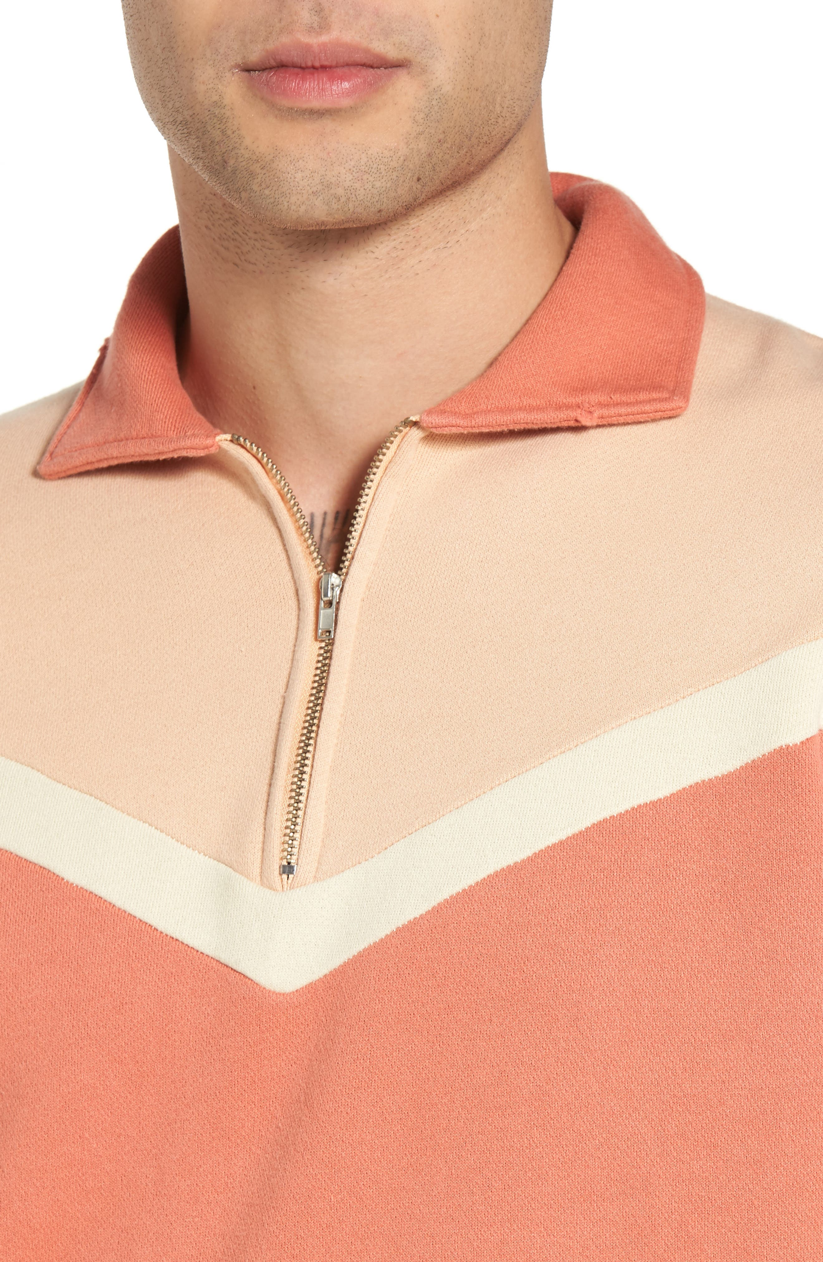Alternate Image 4  - Levi's® Vintage Clothing Colorblocked Quarter Zip Pullover