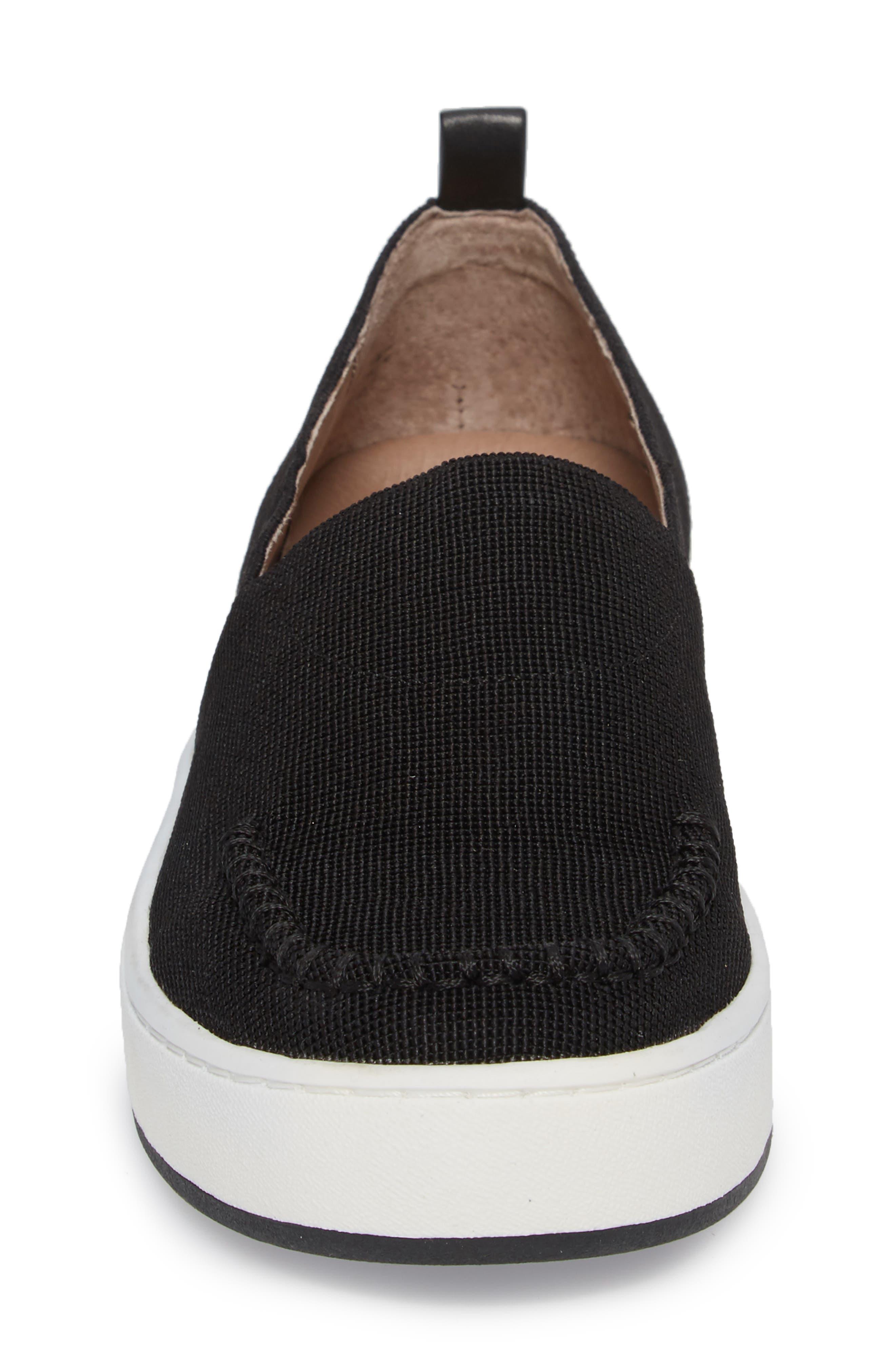 Cory Slip-On Sneaker,                             Alternate thumbnail 4, color,                             Black Elastic Fabric
