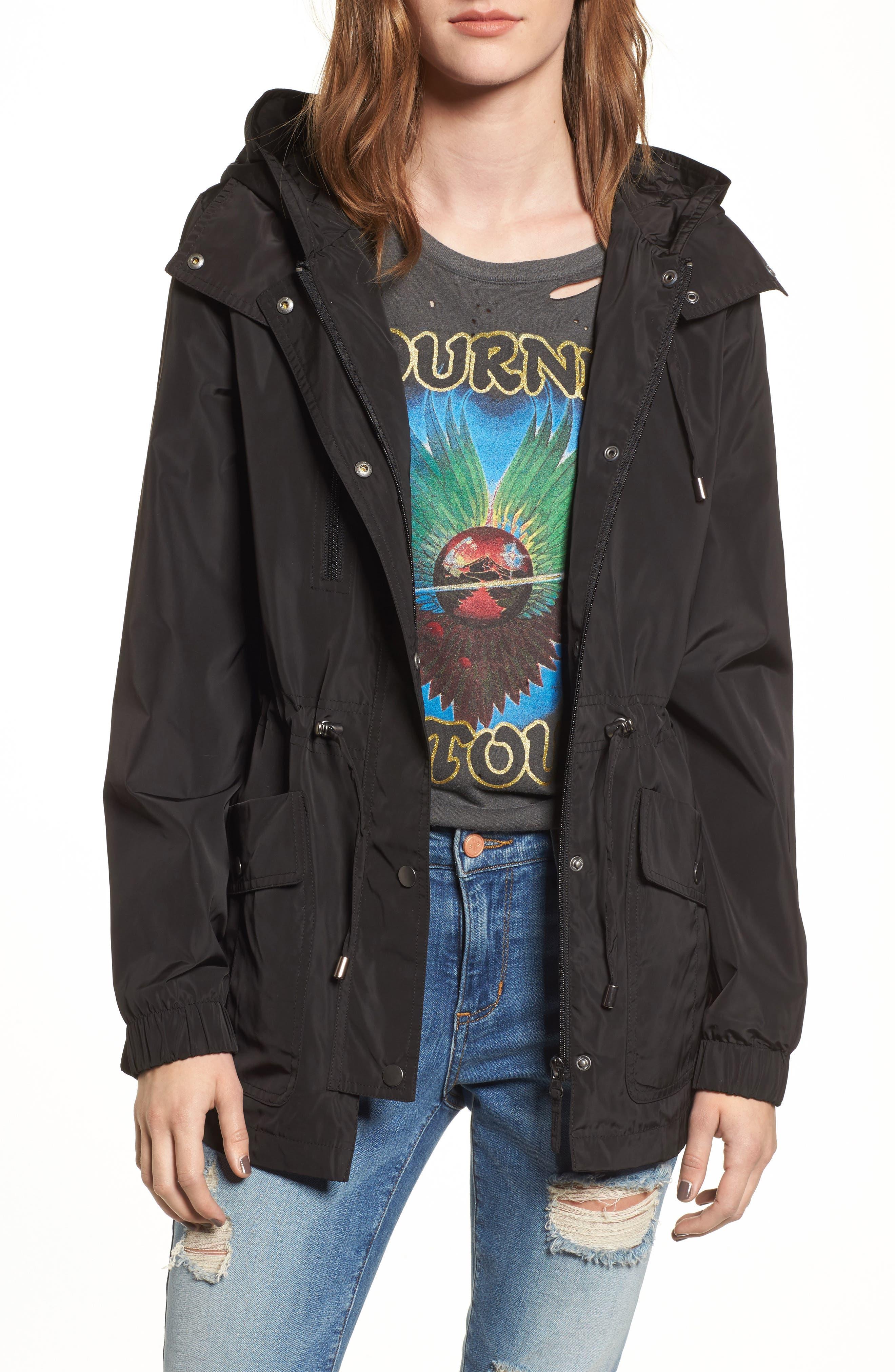 Rain Jacket,                         Main,                         color, Black