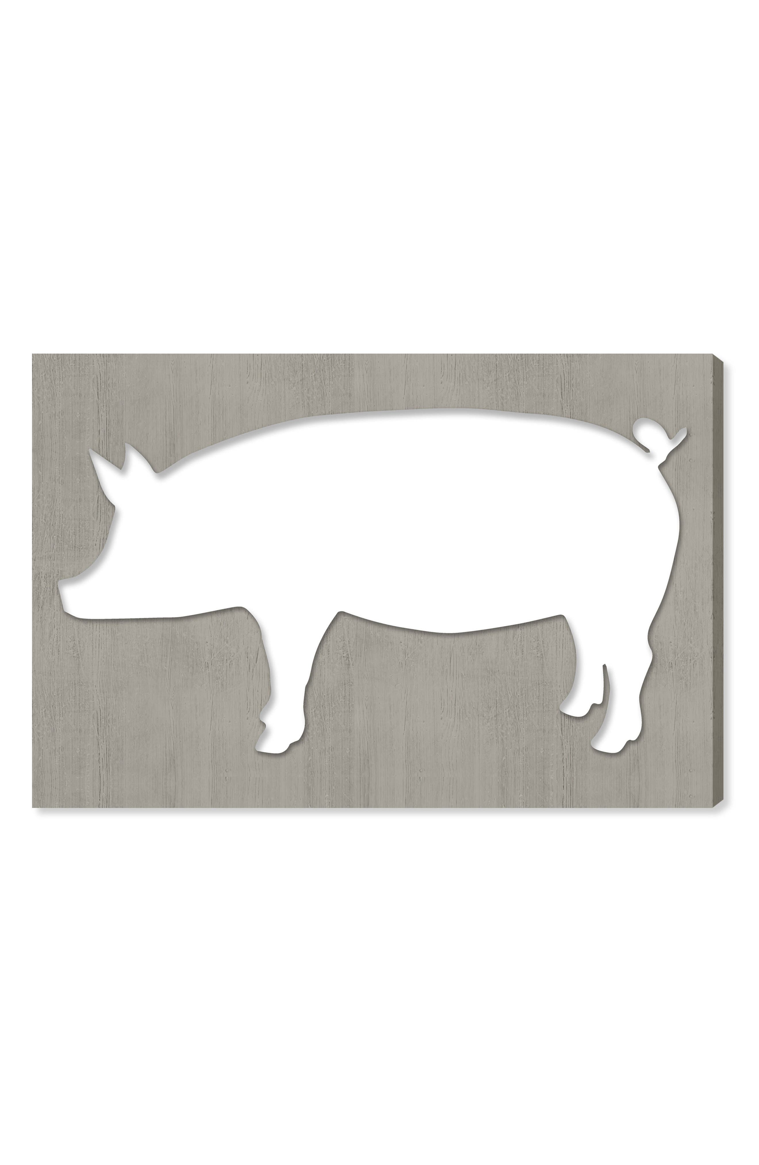 Alternate Image 1 Selected - Oliver Gal Pig Canvas Wall Art