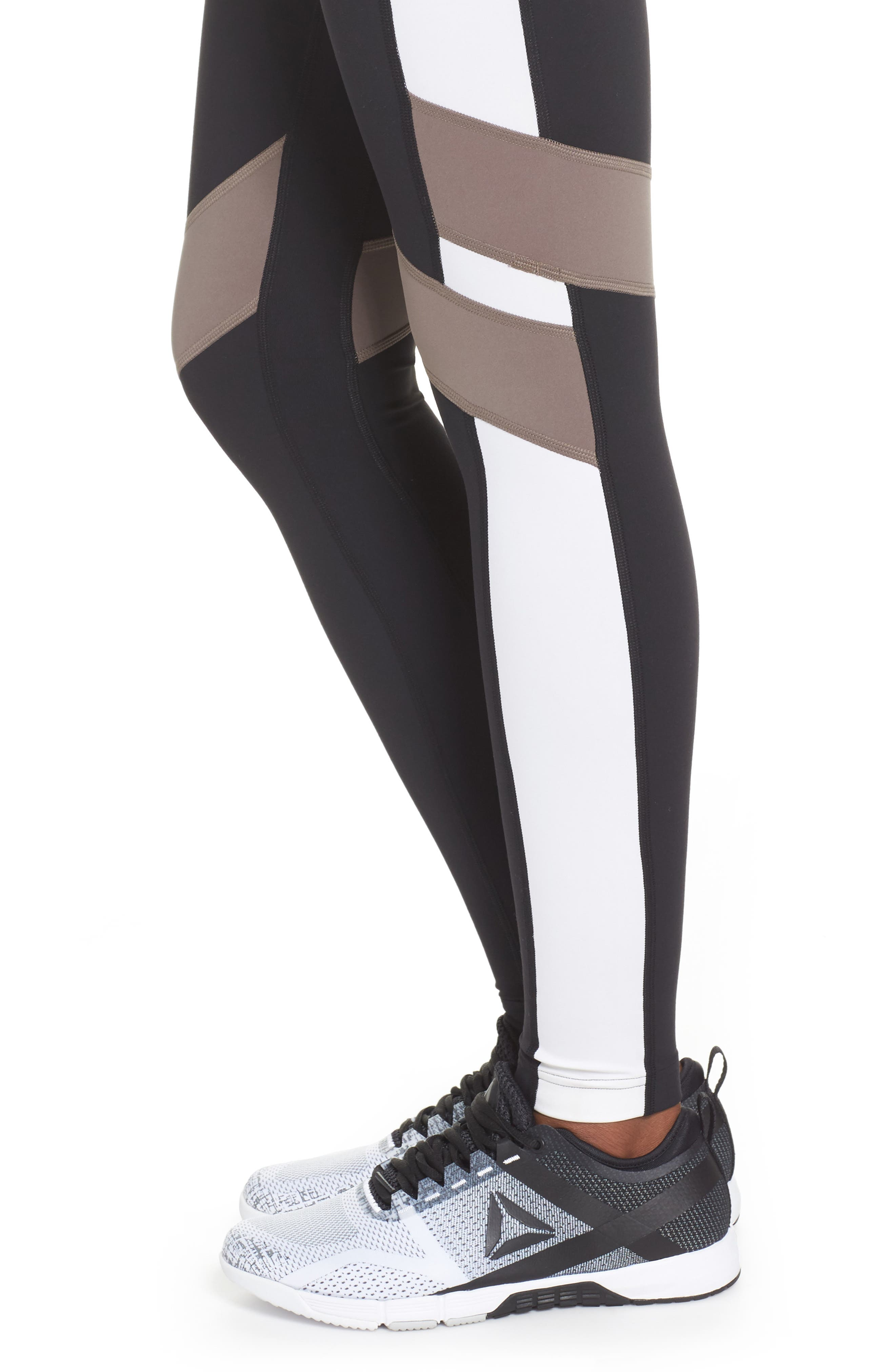 Reebox Lux Tights,                             Alternate thumbnail 4, color,                             Black