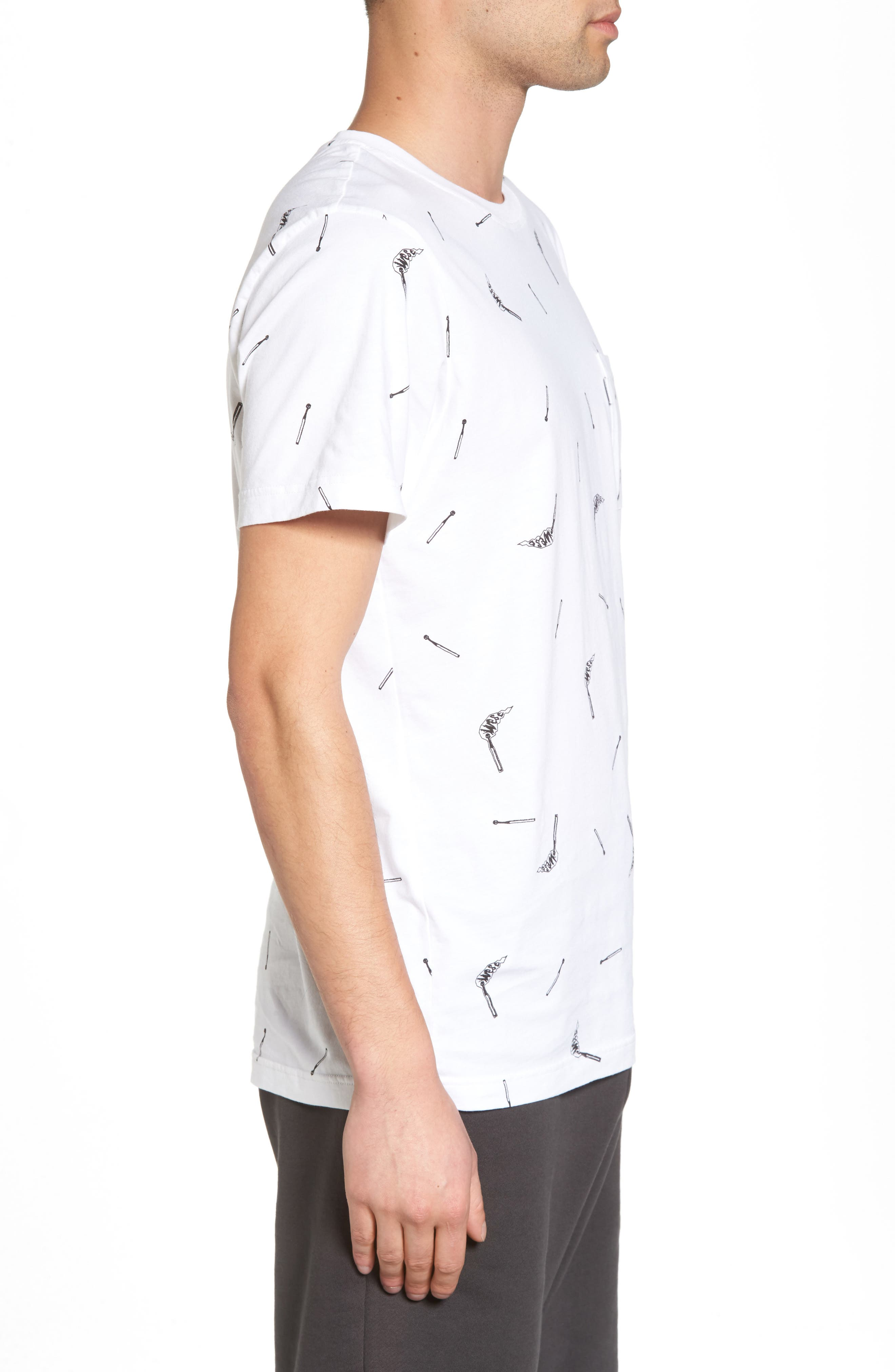 Maxwell Matchsticks T-Shirt,                             Alternate thumbnail 3, color,                             White
