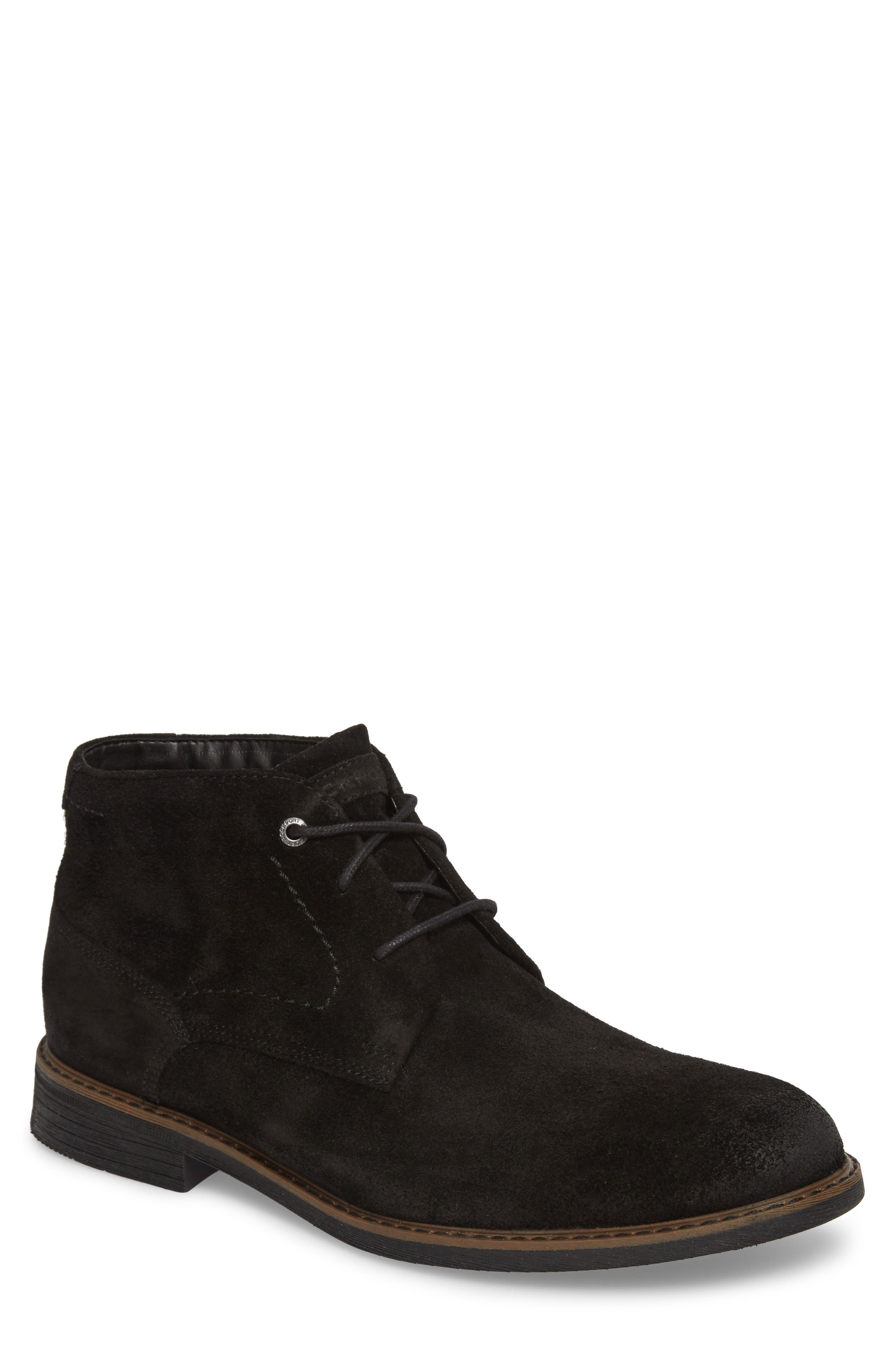 Classic Break Chukka Boot,                         Main,                         color, Black Suede