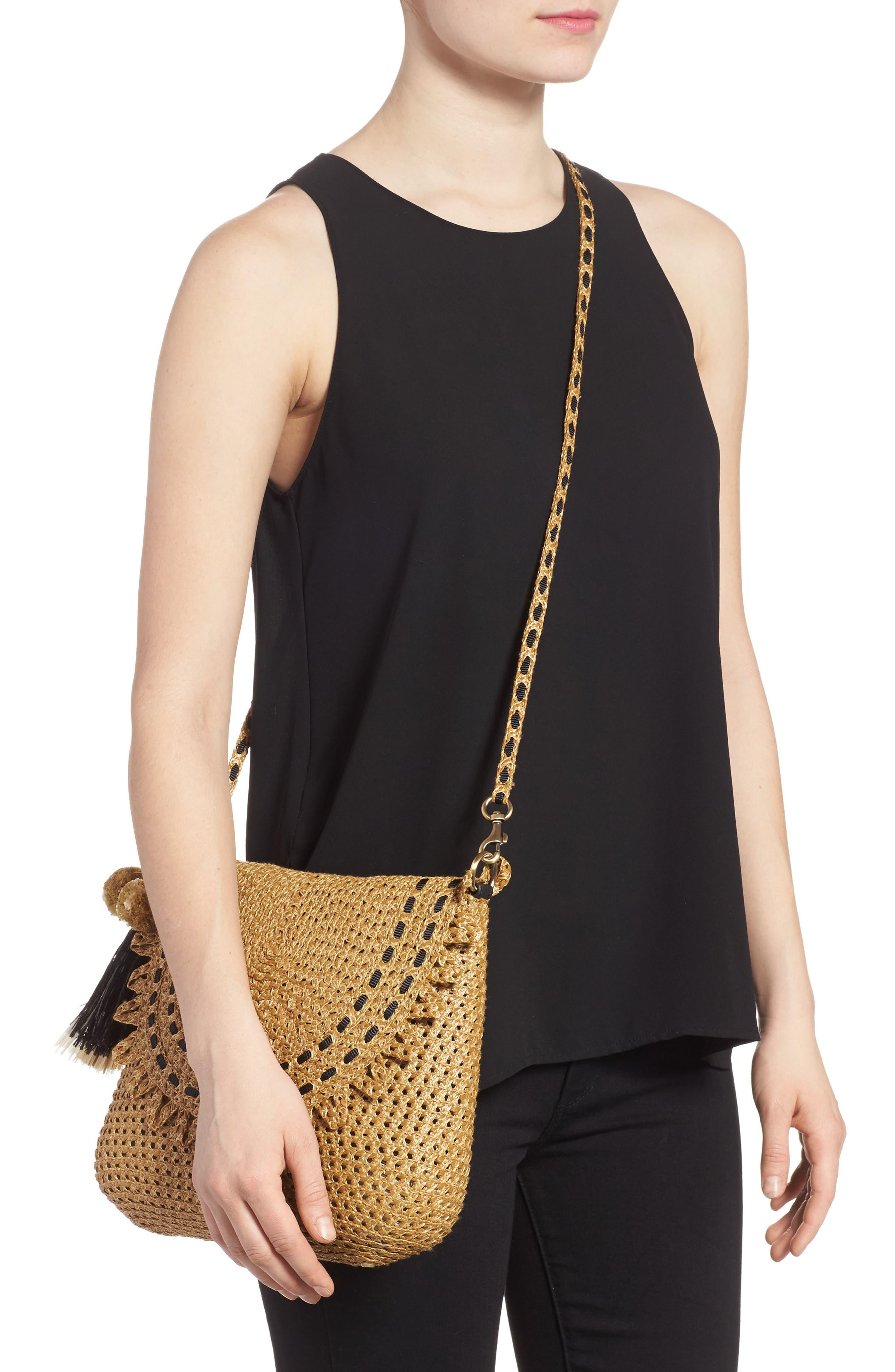 Brigitte Squishee<sup>®</sup> Shoulder Bag,                             Alternate thumbnail 2, color,                             Natural/ Black