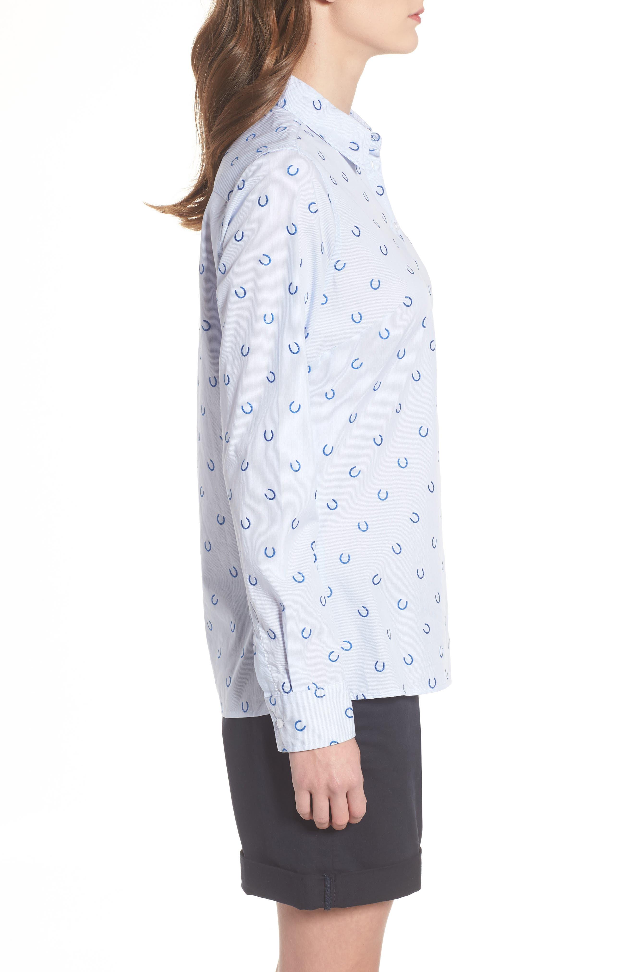Daisyhill Regular Fit Shirt,                             Alternate thumbnail 3, color,                             Pale Blue