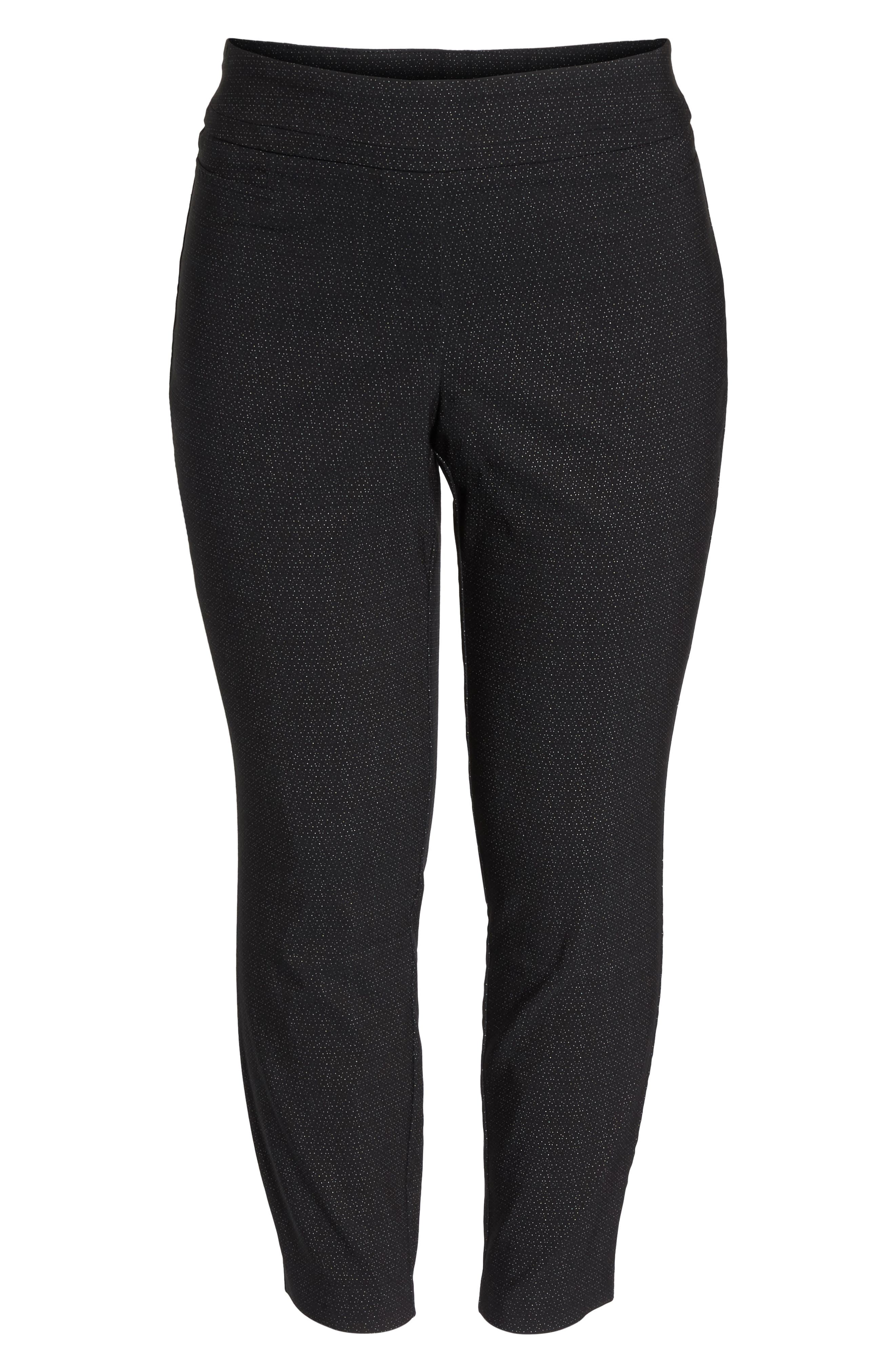 Alternate Image 6  - Sejour Textured Stretch Crop Pants (Plus Size)