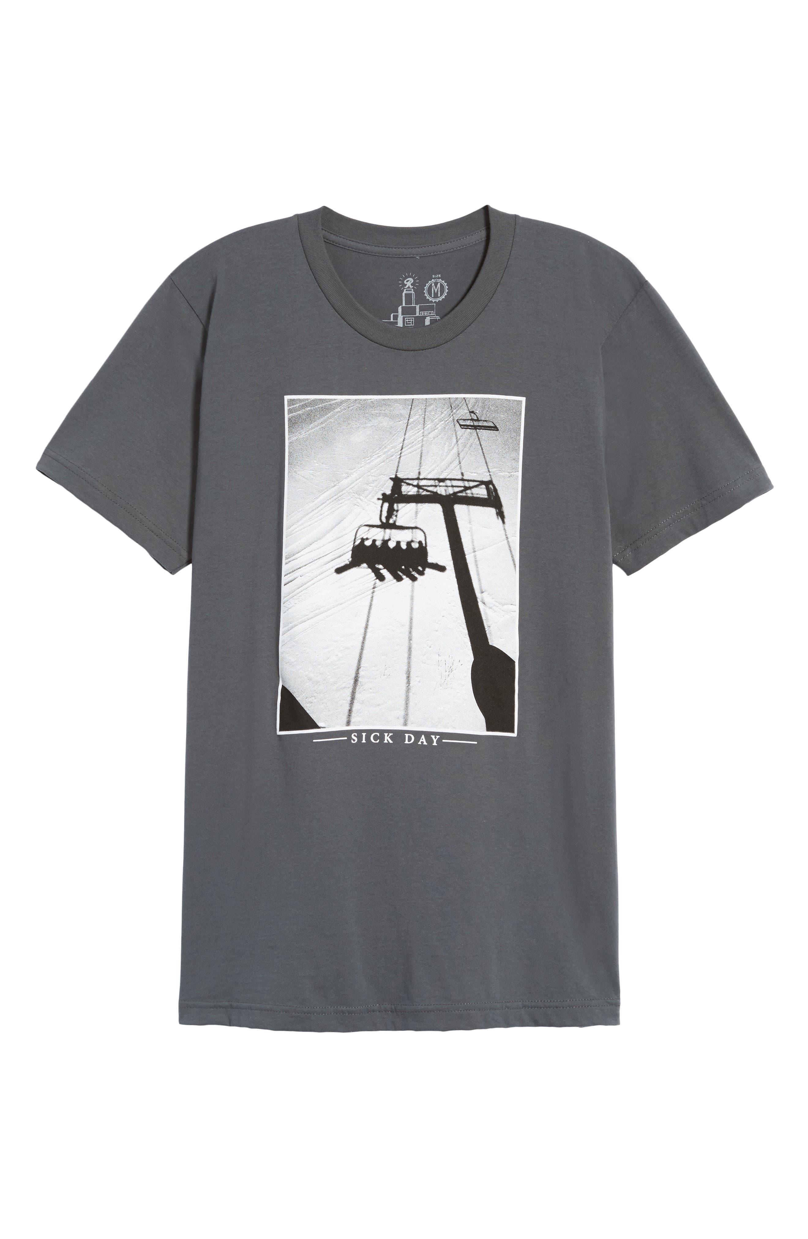 Sick Day T-Shirt,                             Alternate thumbnail 6, color,                             Asphalt