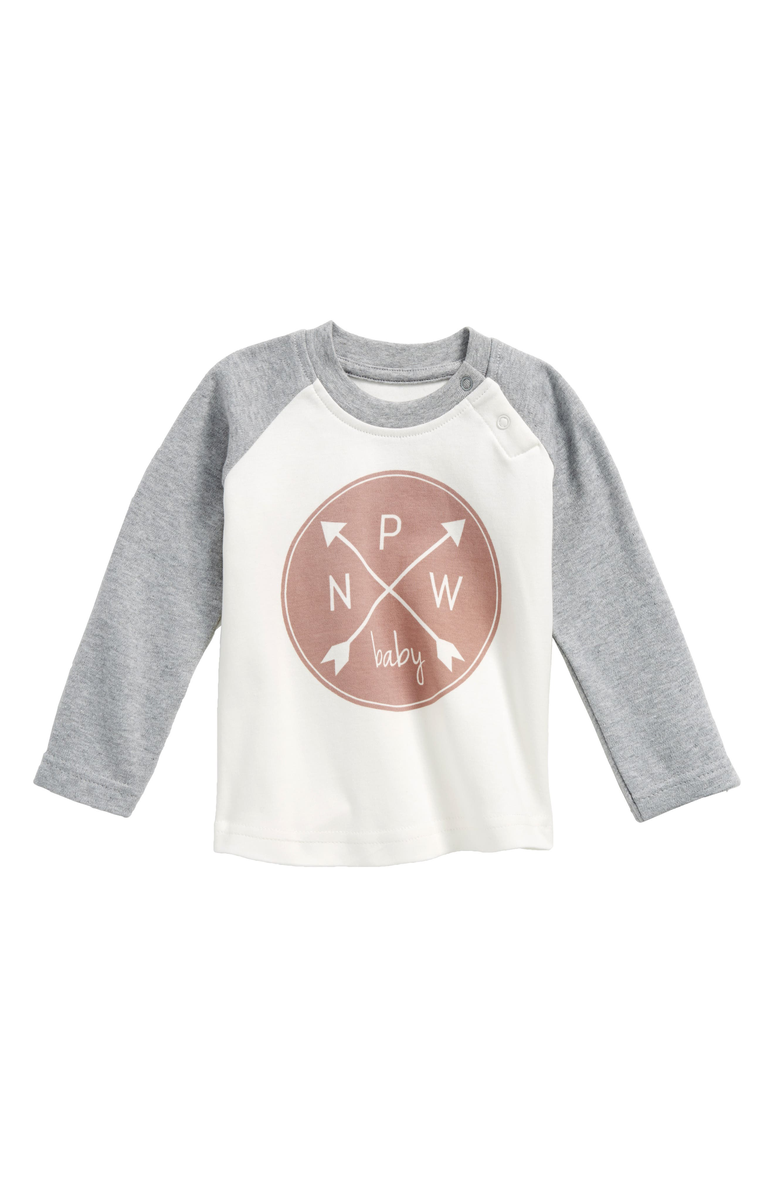 Main Image - City Mouse PNW Logo Organic Cotton Tee (Baby Girls)