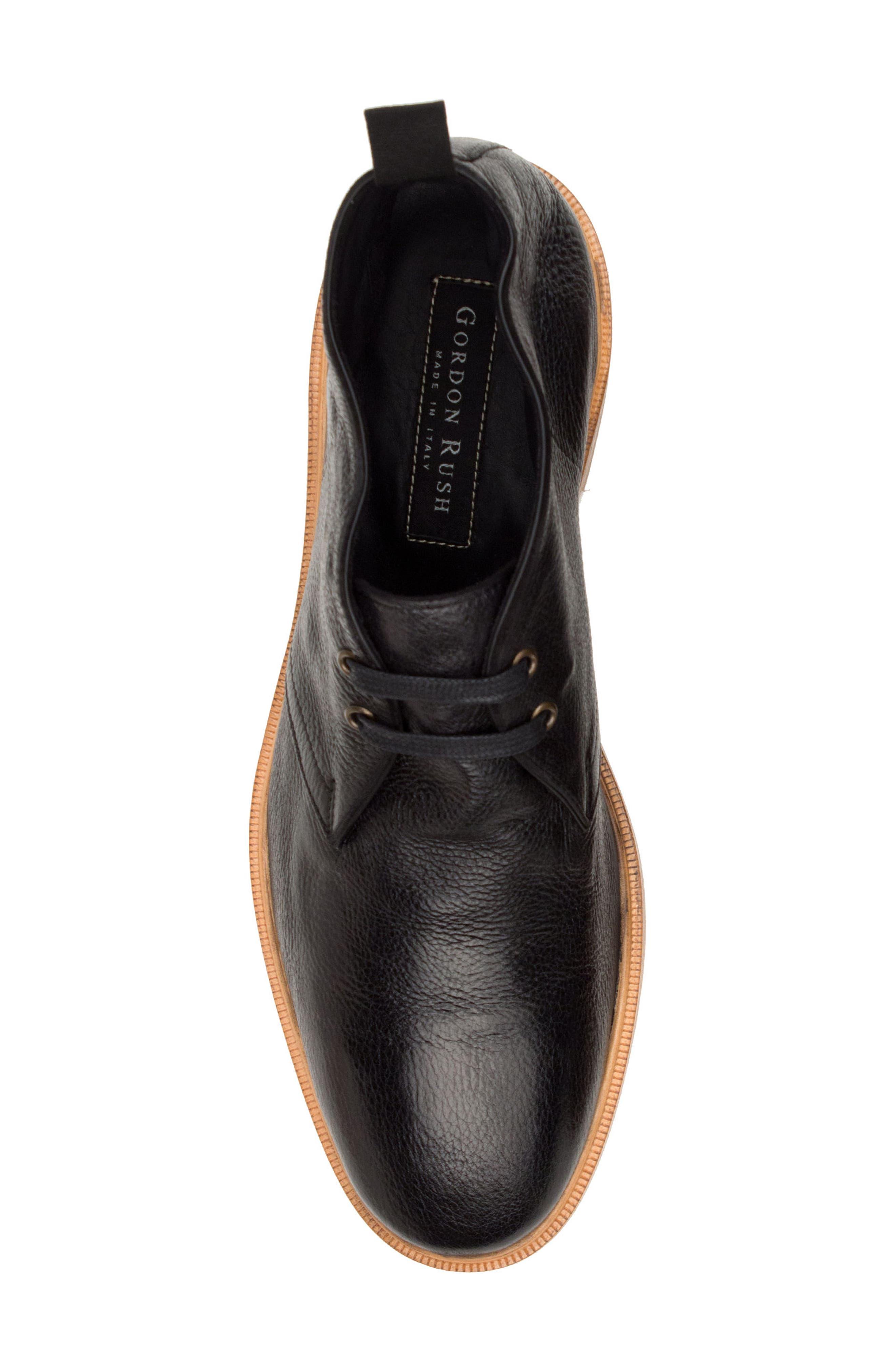 Luke Chukka Boot,                             Alternate thumbnail 5, color,                             Black Leather