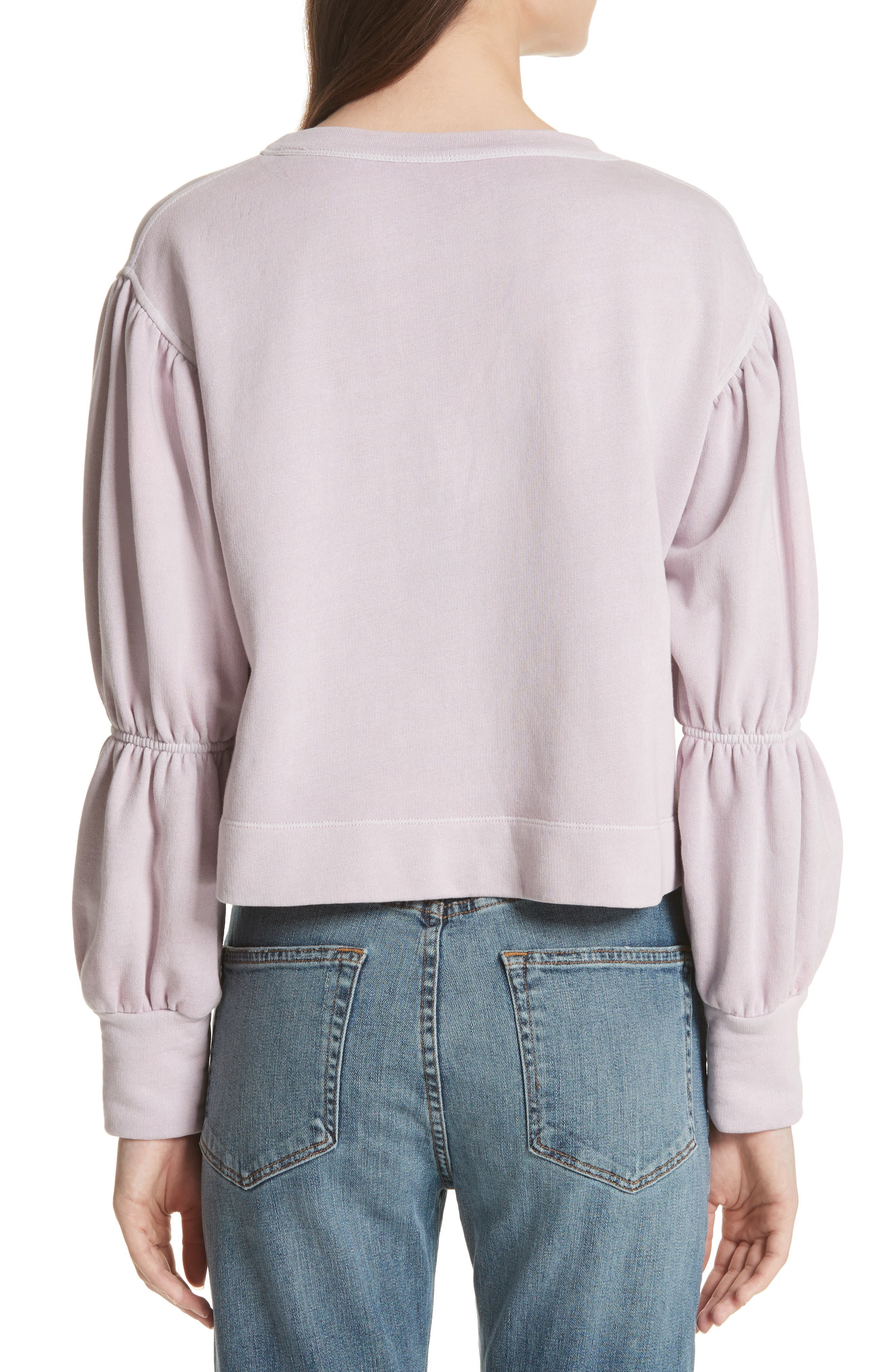 French Terry Pullover,                             Alternate thumbnail 2, color,                             Lilac Dust