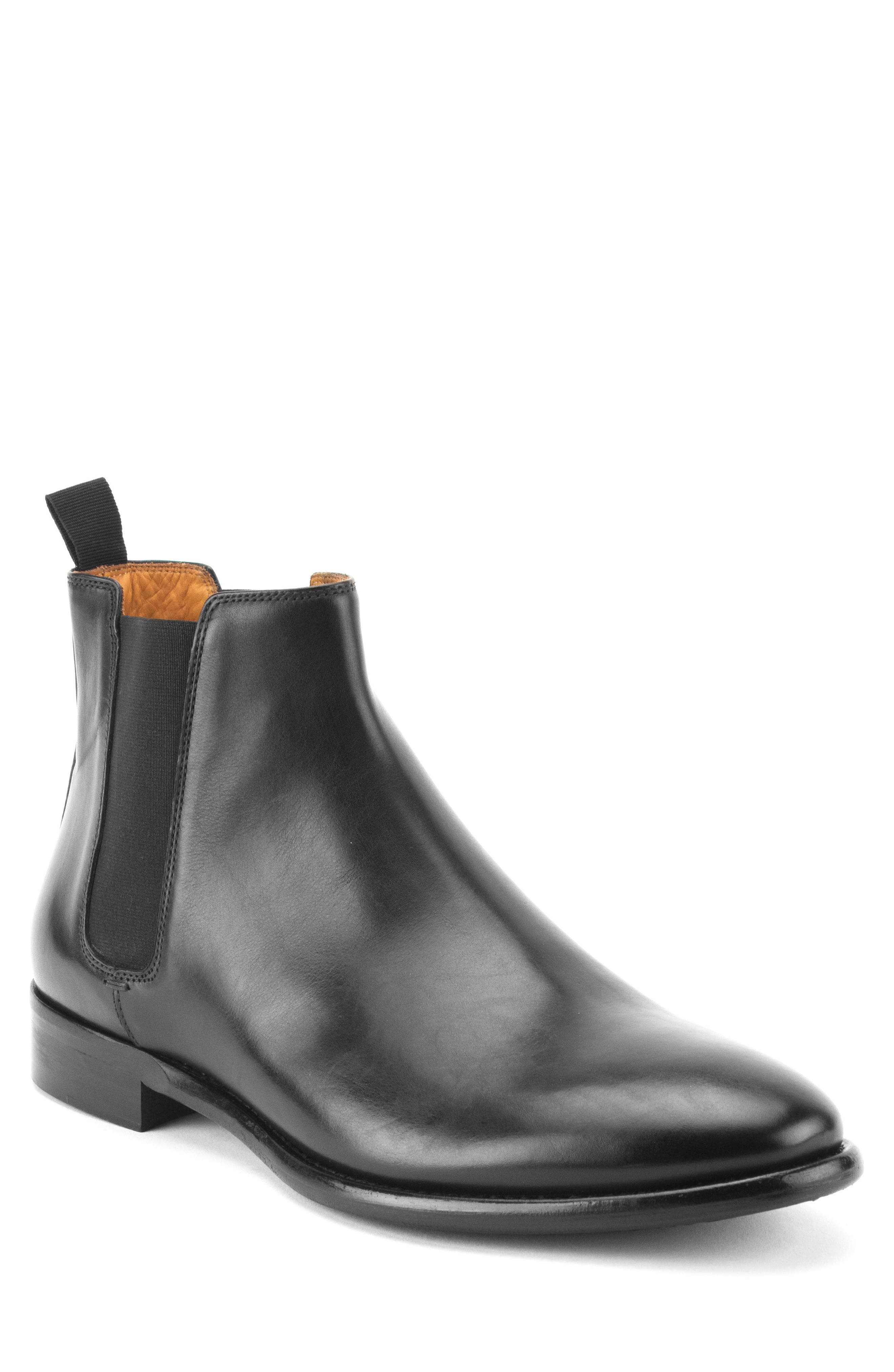 Matthews Chelsea Boot,                         Main,                         color, Black Leather