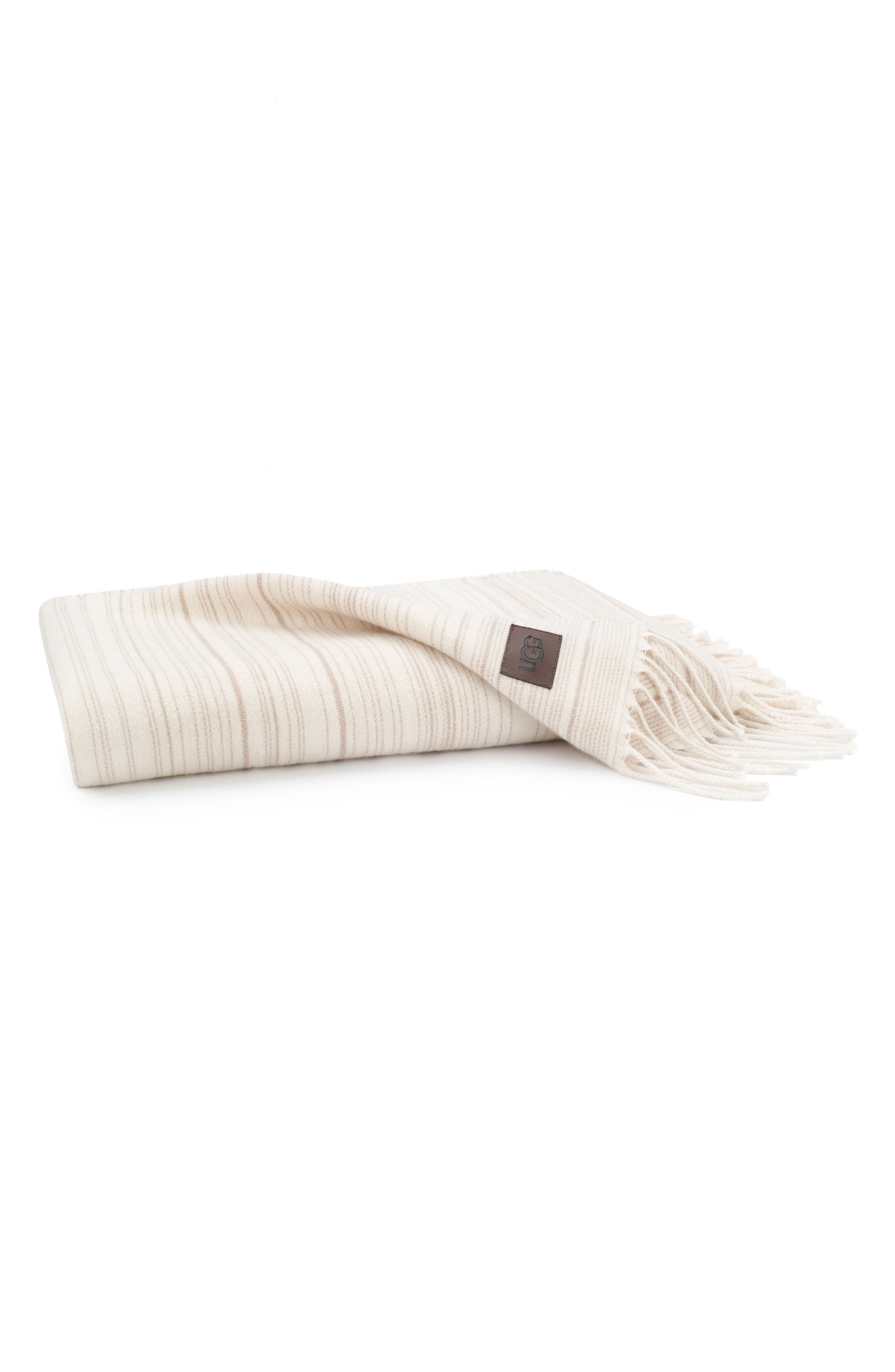 Driftwood Stripe Throw,                         Main,                         color, Snow/ Bone