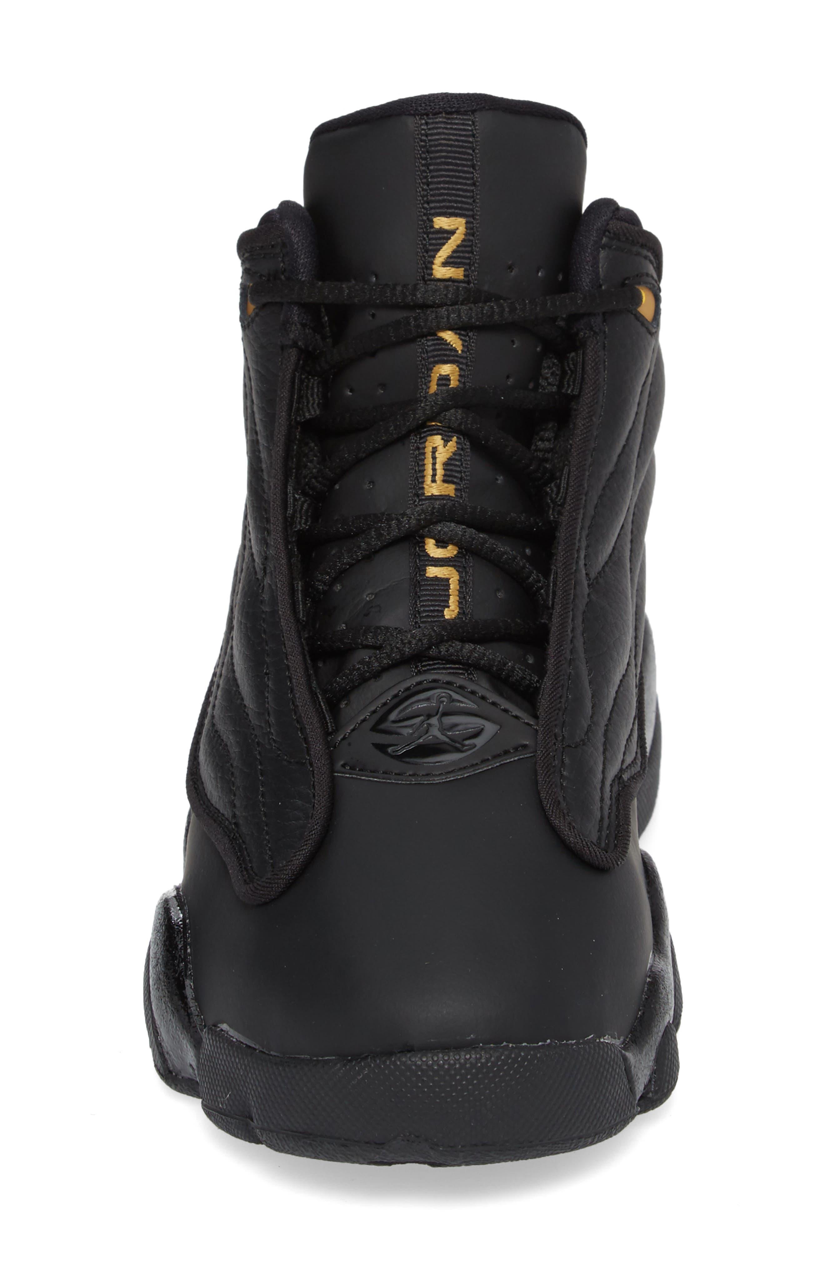 Pro Strong BP High Top Sneaker,                             Alternate thumbnail 4, color,                             Black/ Black