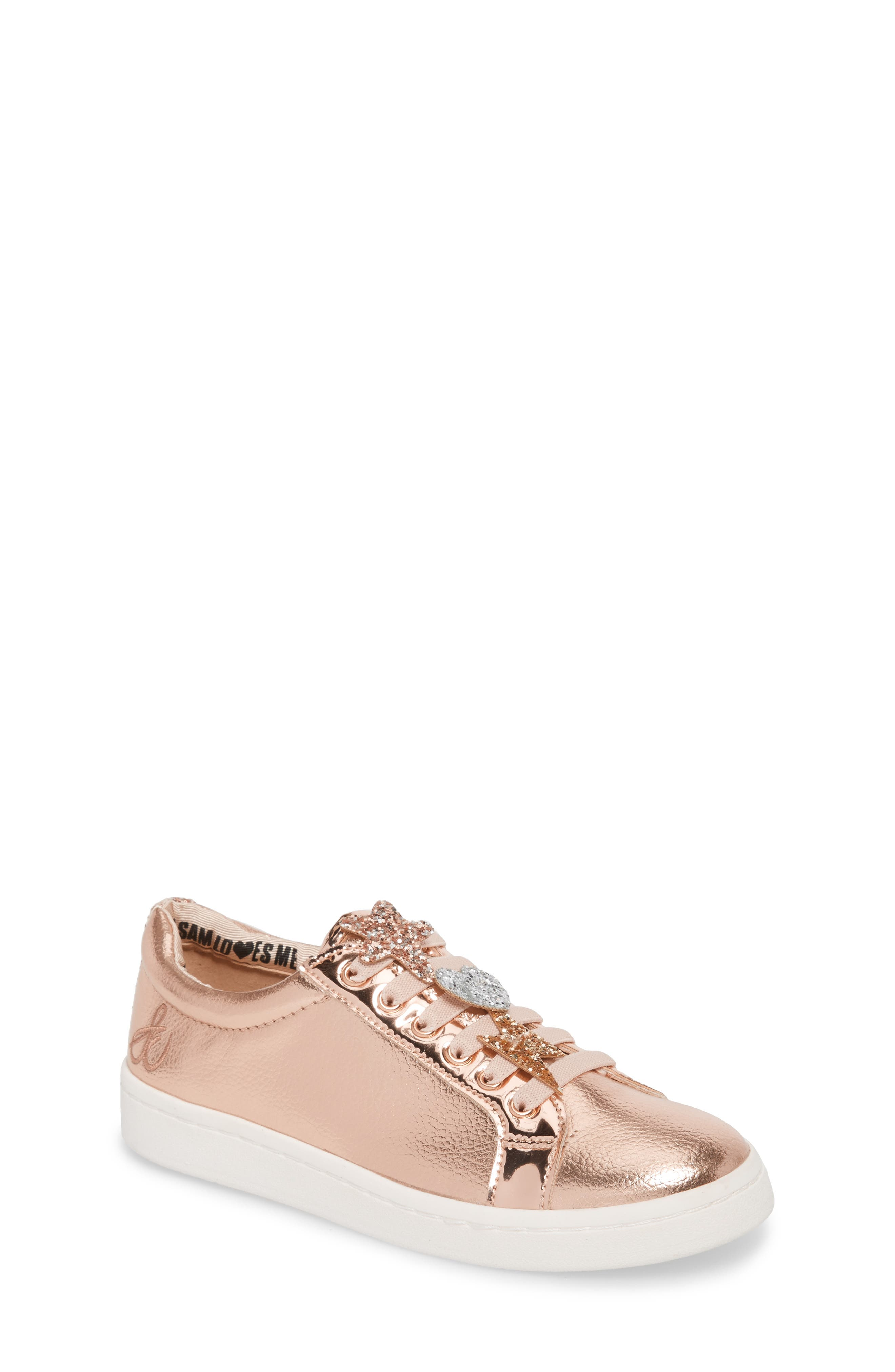 Blane Sammie Slip-On Sneaker,                             Main thumbnail 1, color,                             Rose Gold Faux Leather